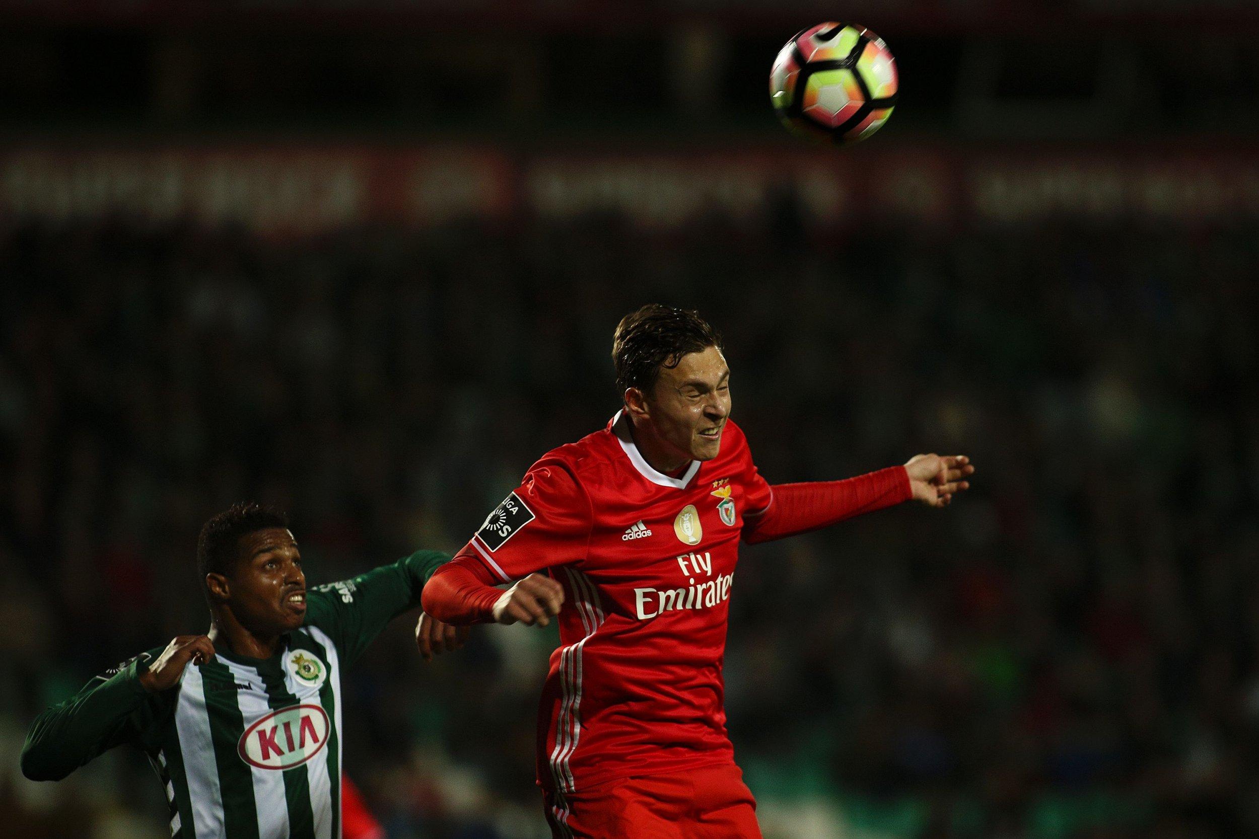Benfica defender Victor Lindelof, right.