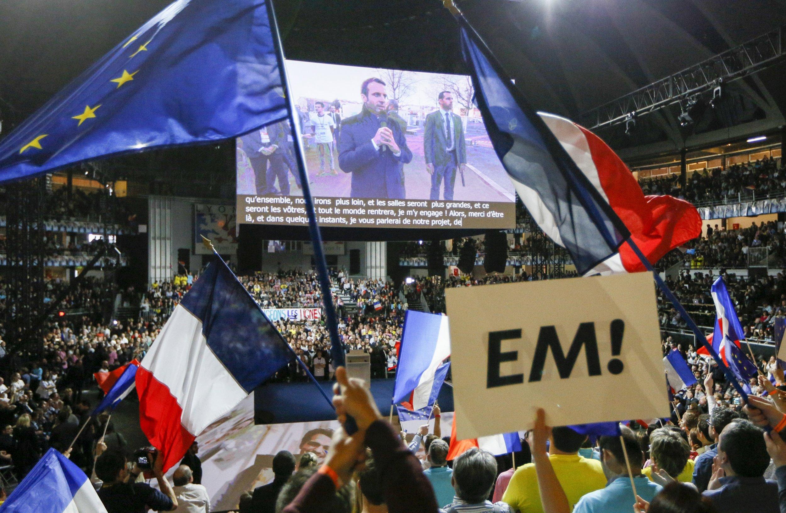 Emmanuel Macron rally 2017