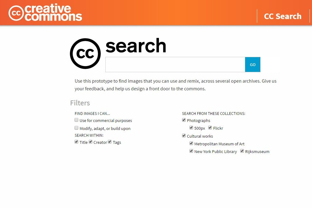 creative commons search engine