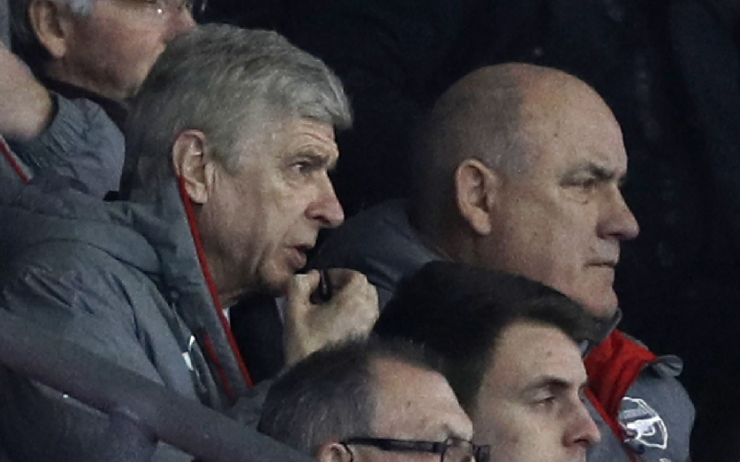 Arsenal manager Arsene Wenger, left.