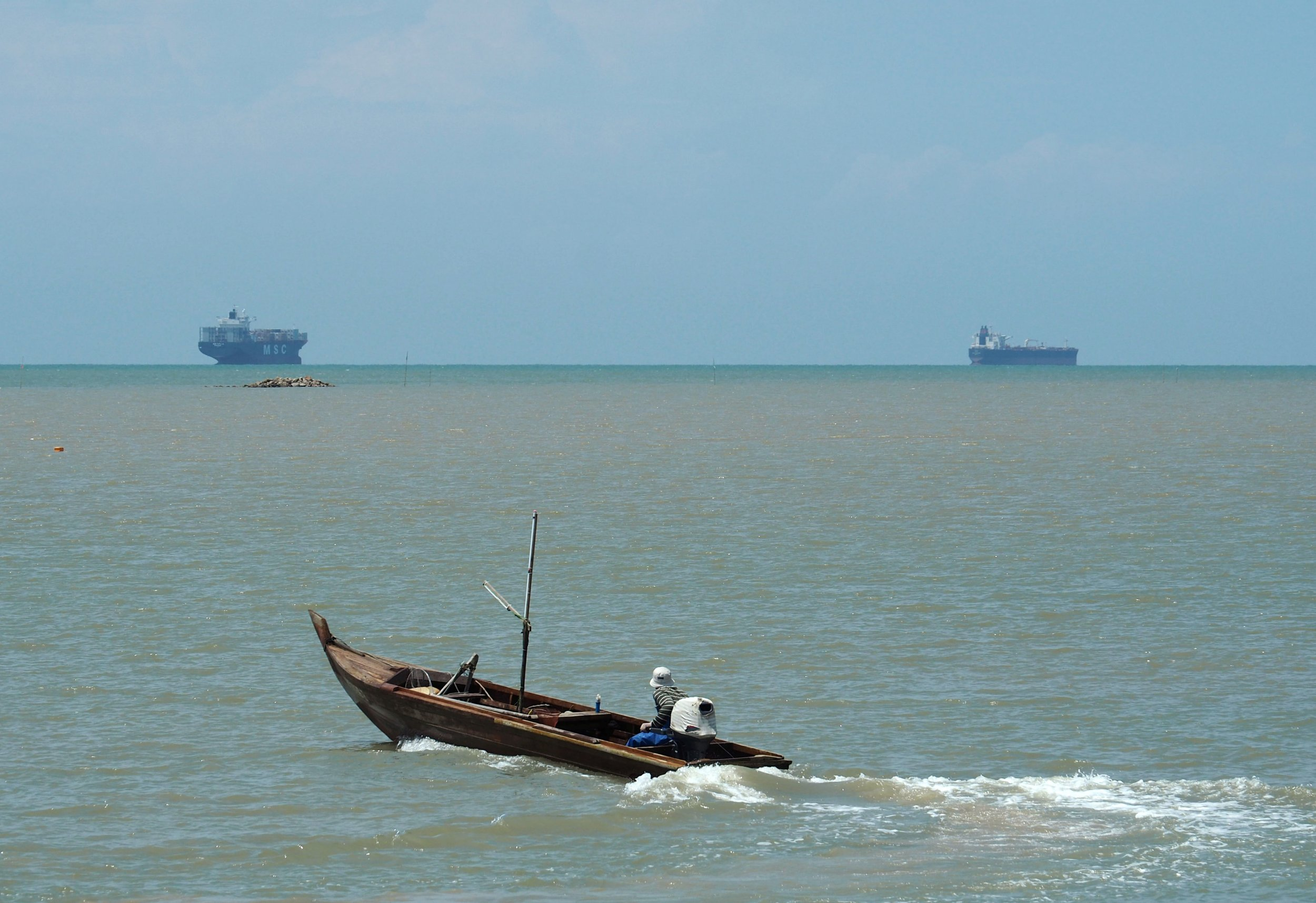 Boat in Malaysian waters