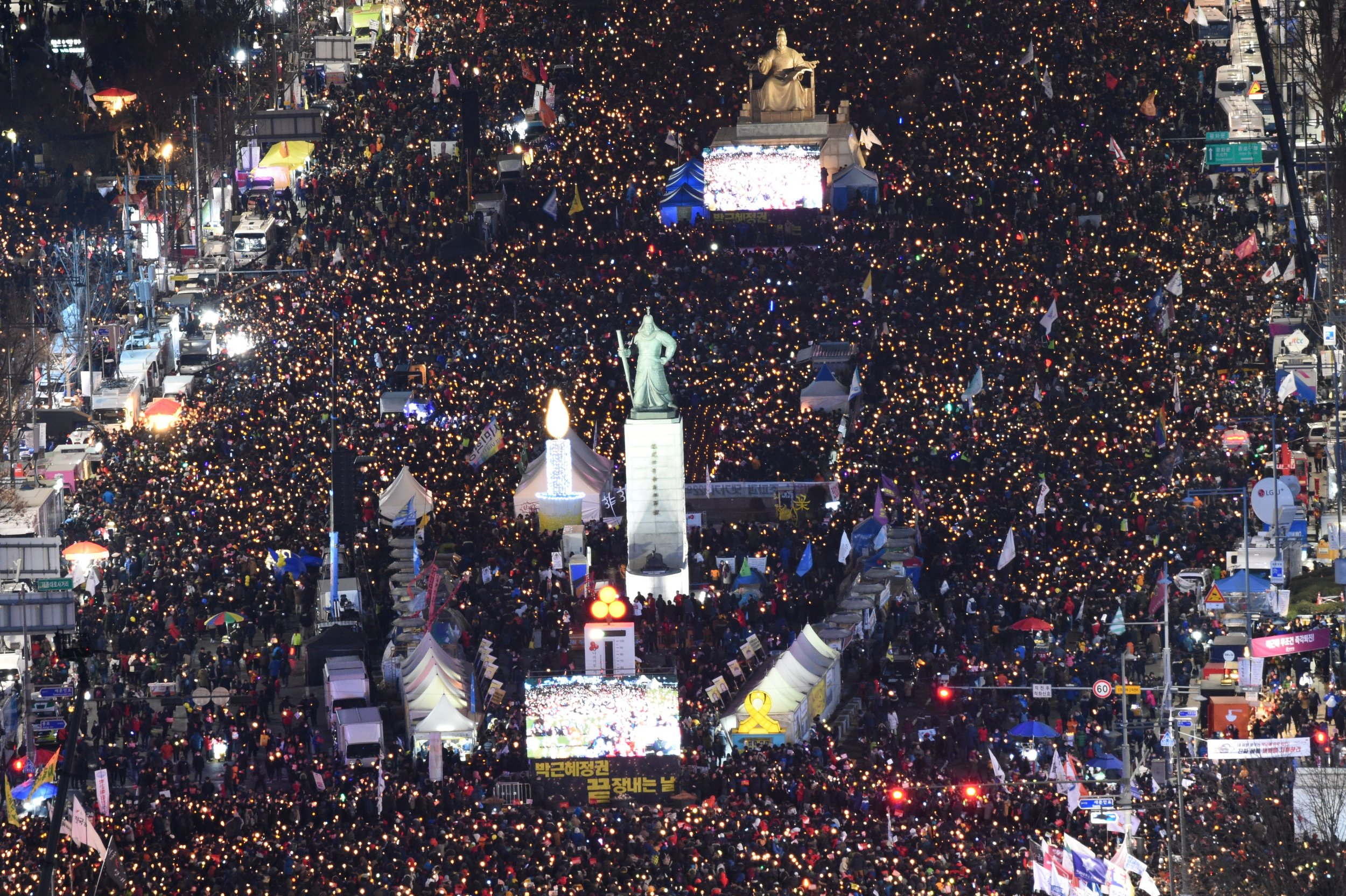 Protesters march against Park in Korea
