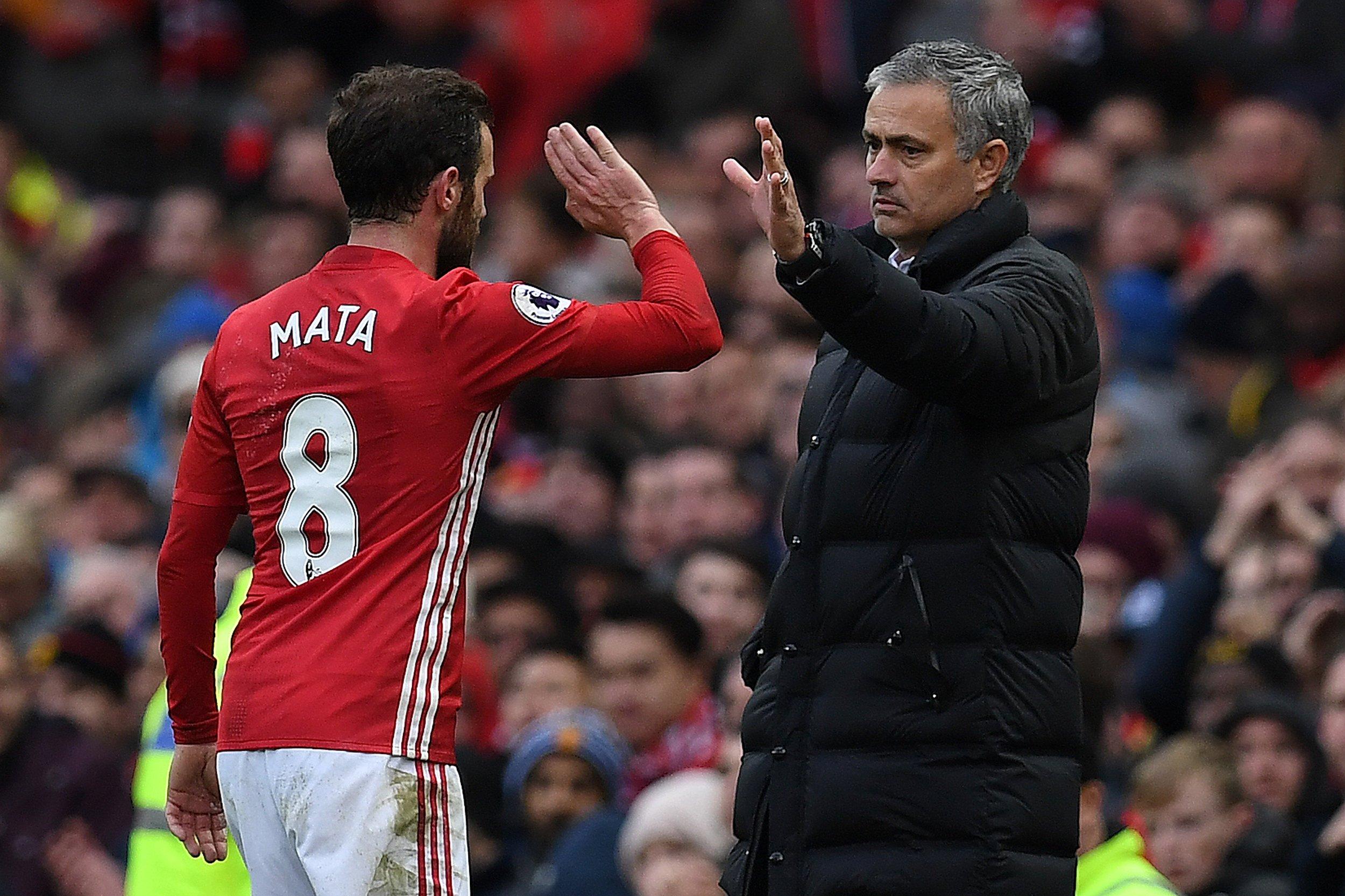 Mata and Mourinho
