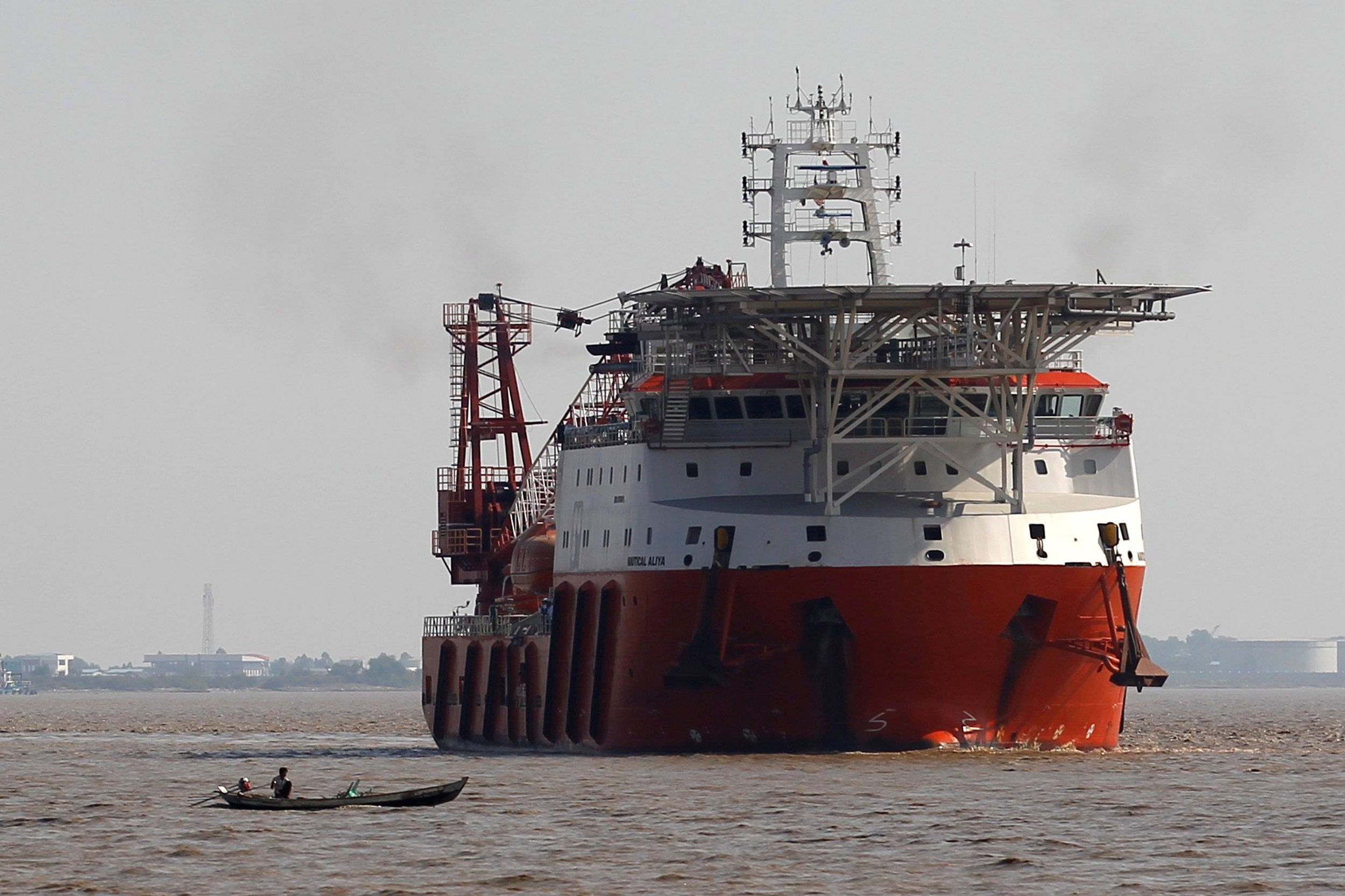 Aid ship from Malaysia