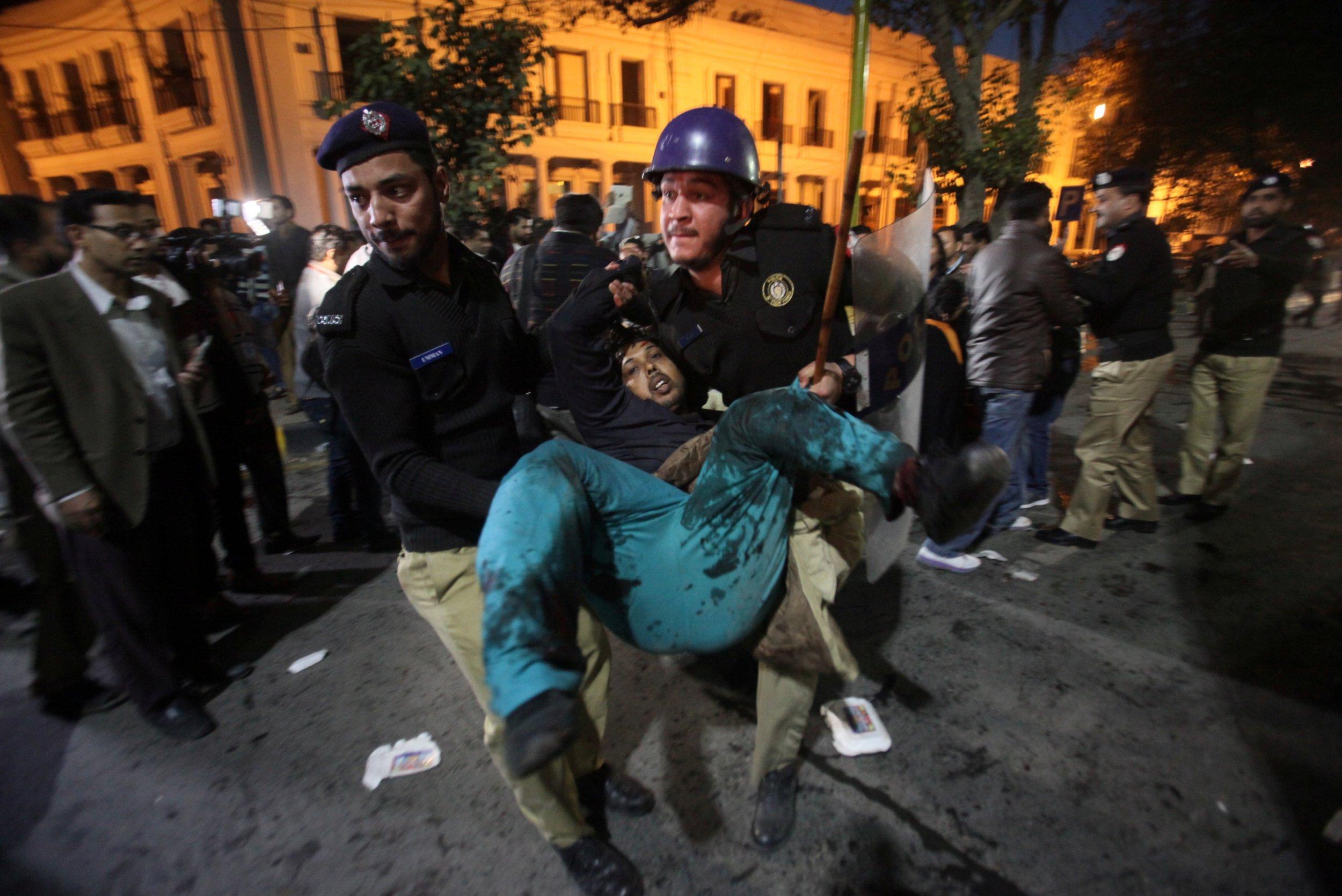 Woman injured in blast