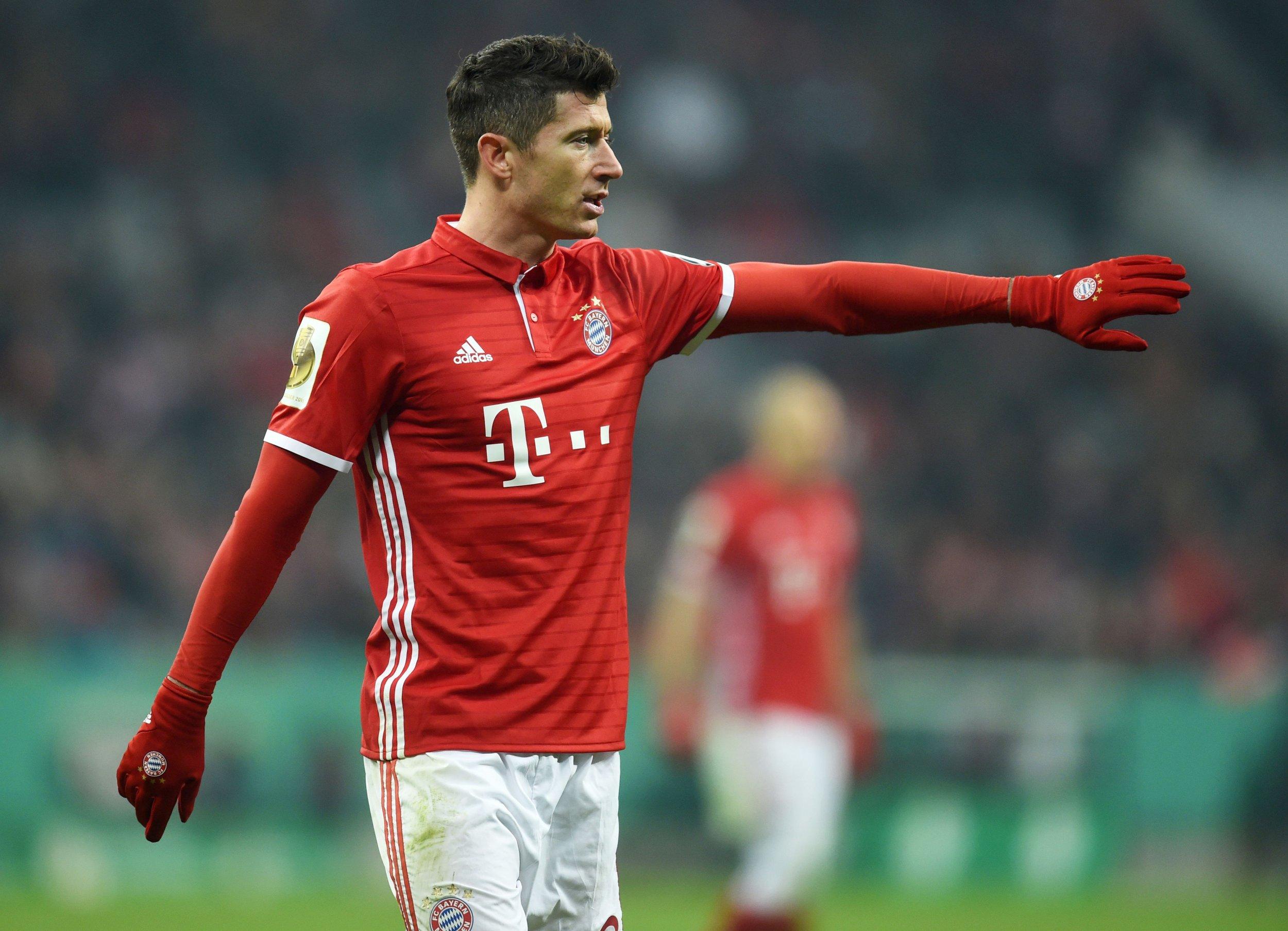 Bayern Munich striker Robert Lewandowski.