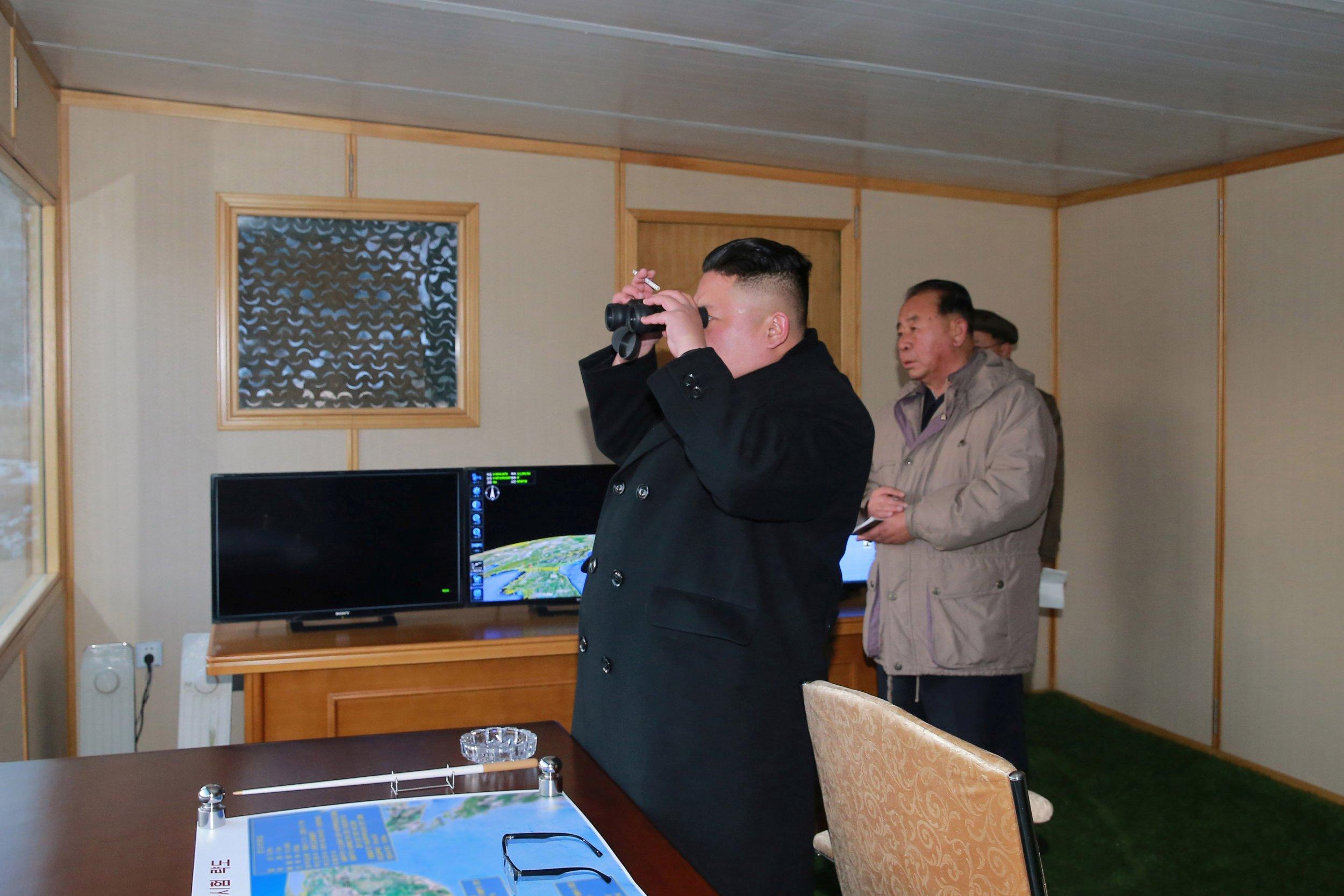 Kim Jong Un watches missile