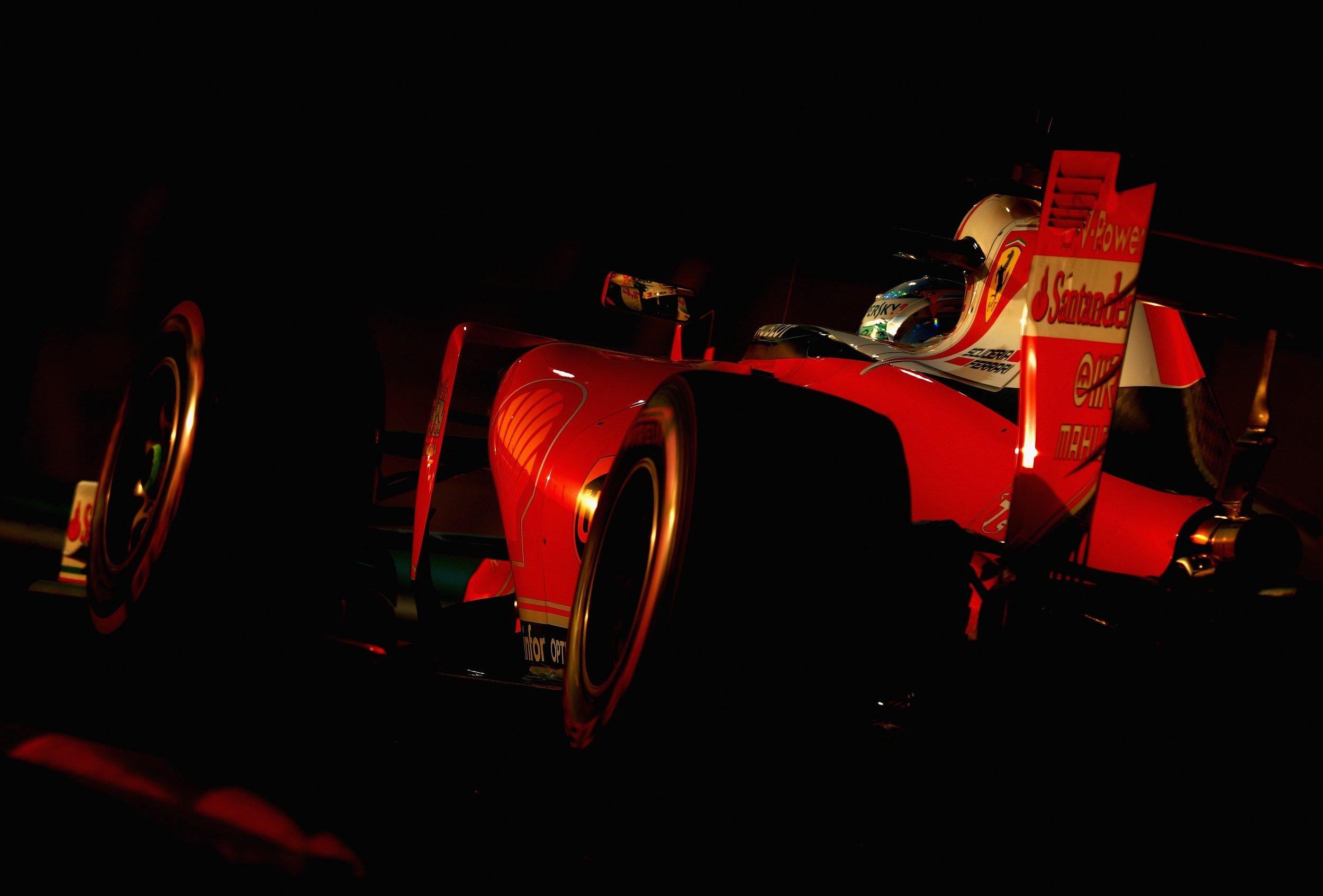 Sebastian Vettel of Germany driving the  Scuderia Ferrari SF16-H Ferrari 059/5 turbo.