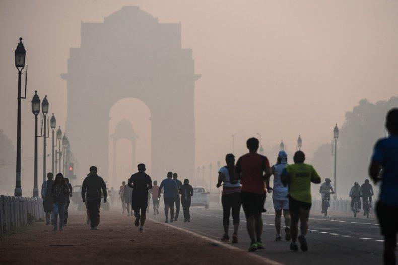 Joggers running in Delhi