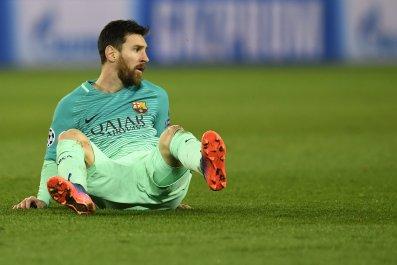 Barcelona forward Lionel Messi.