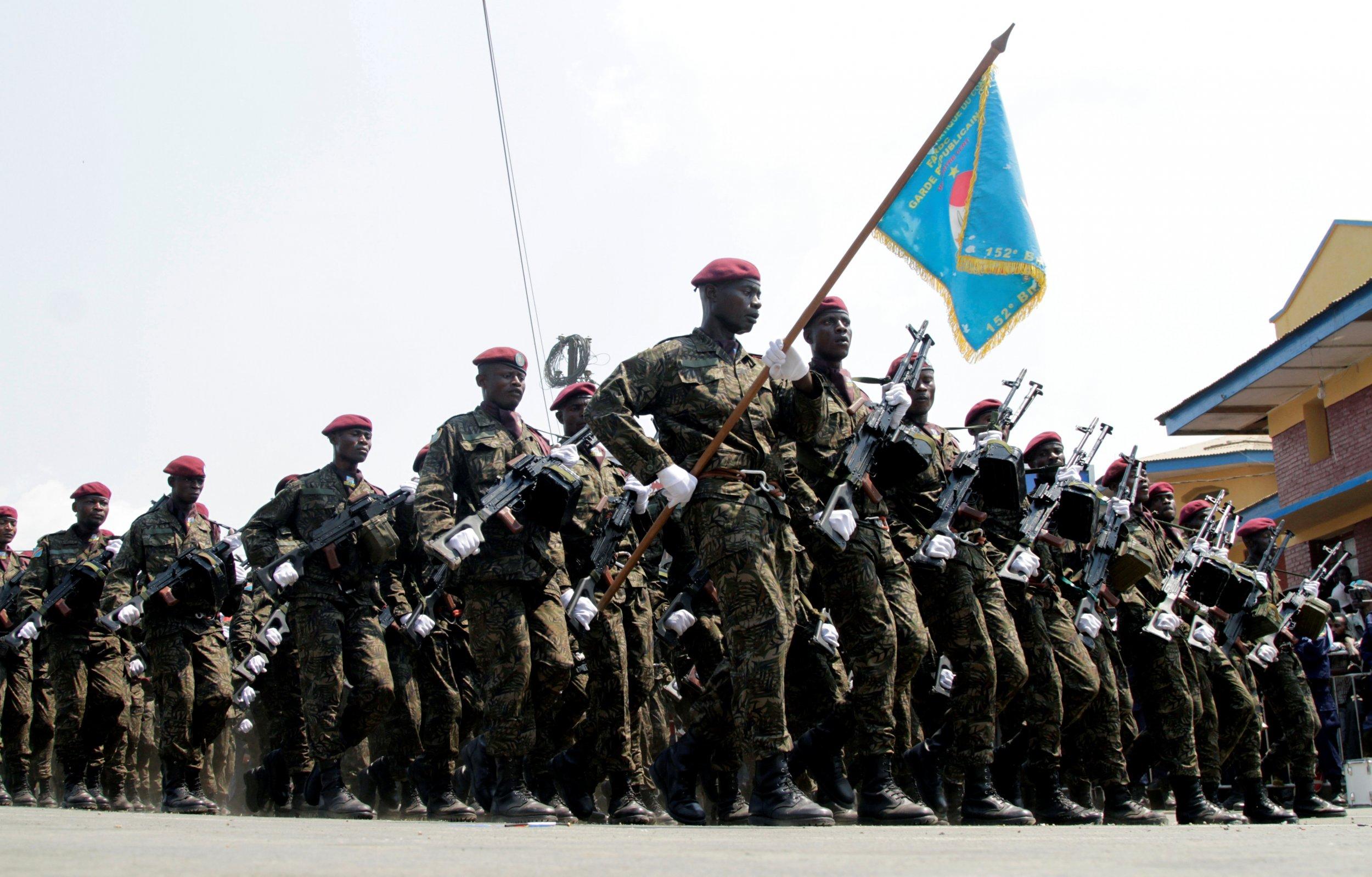 Congo army parade