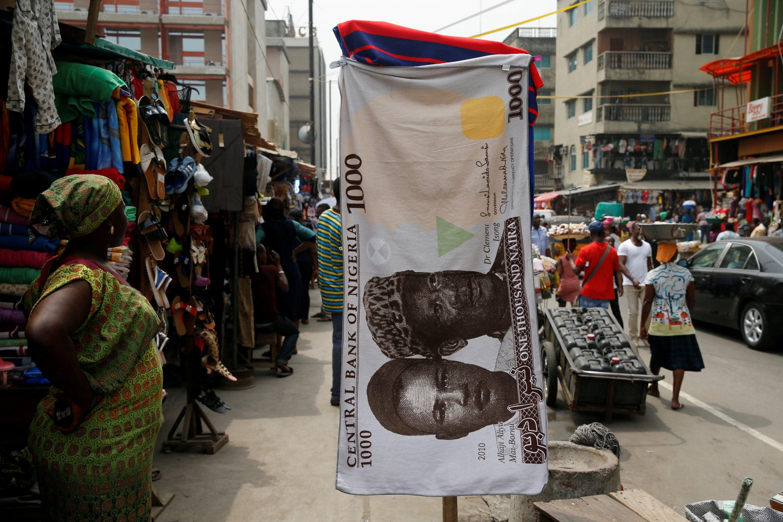 Nigerian naira towel