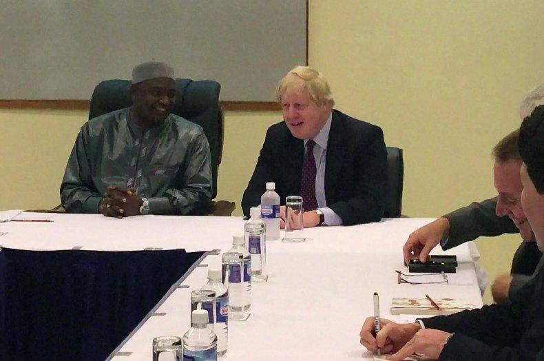 Adama Barrow Boris Johnson