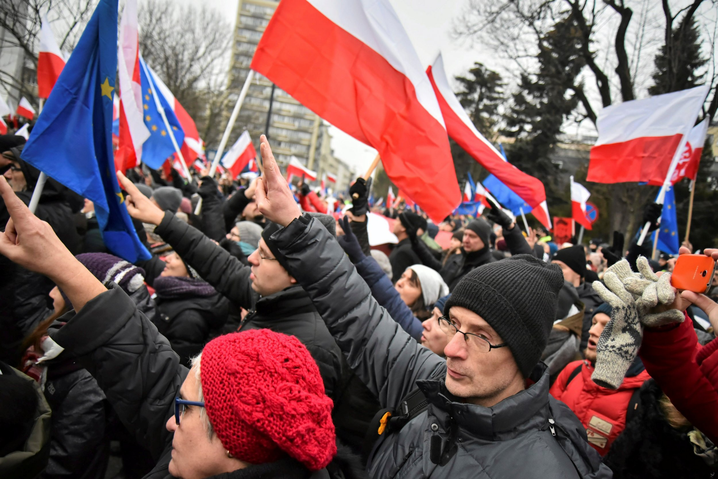 Polish Government Protest
