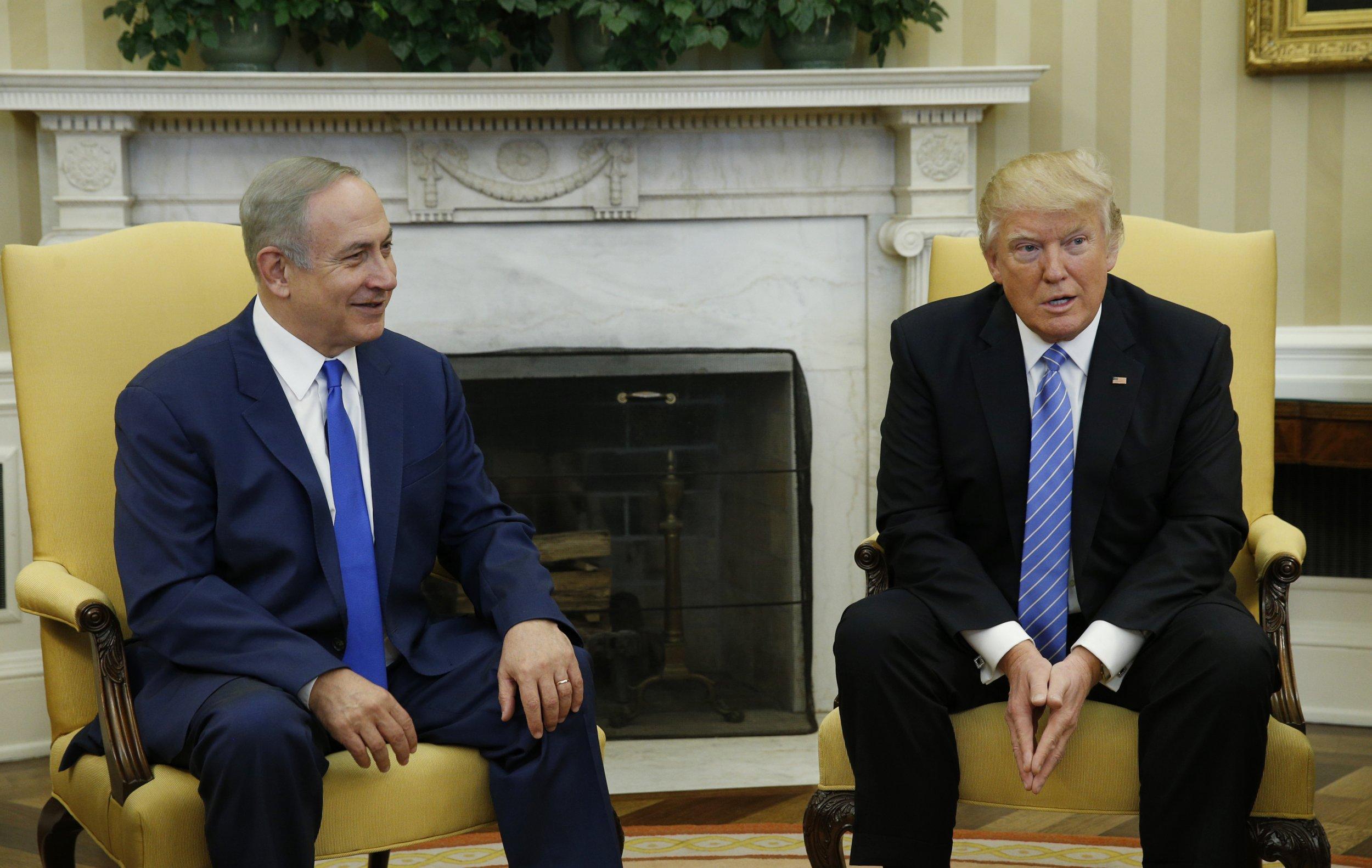 Donald Trump Israel Benjamin Netanyahu
