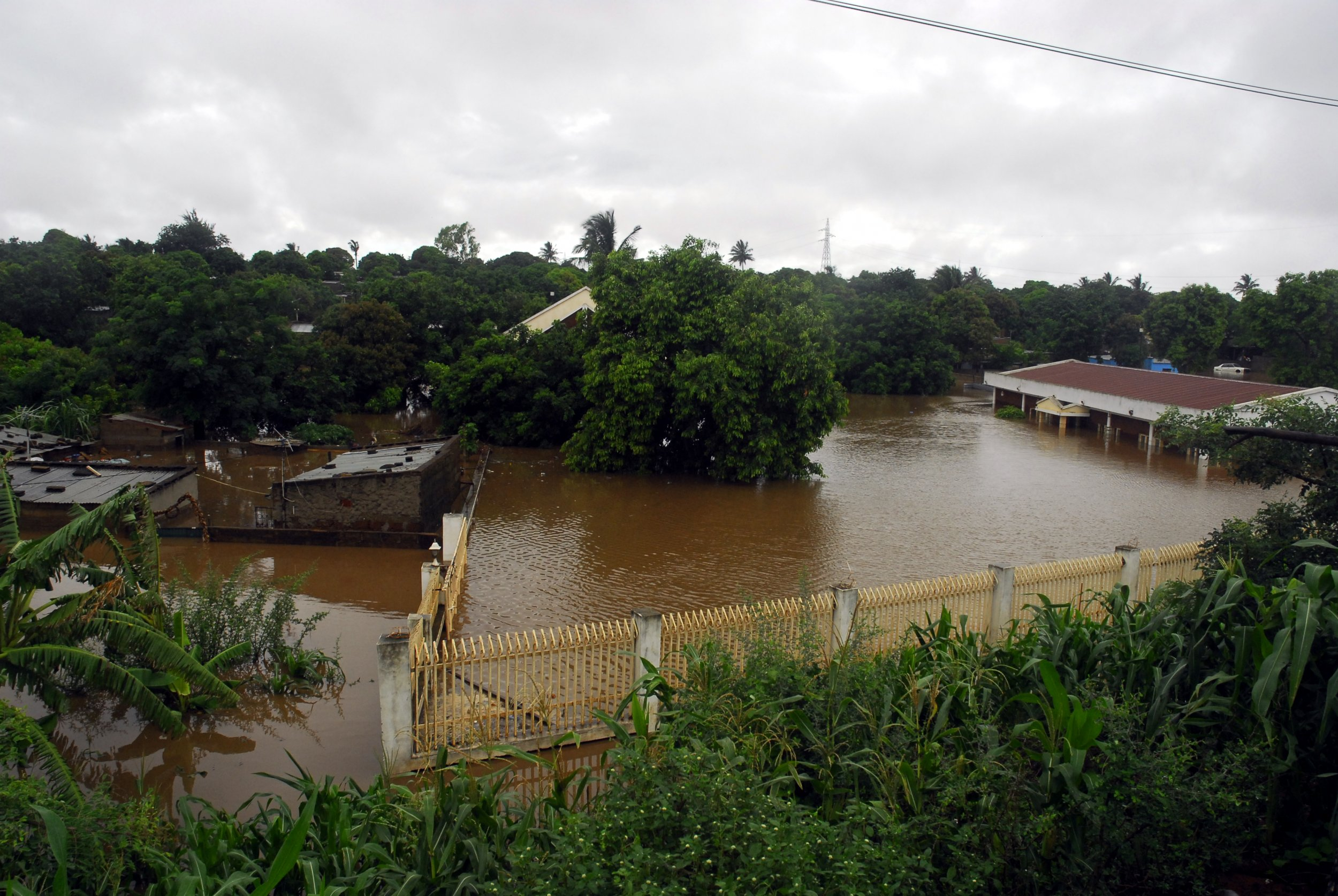 Mozambique flooded homes