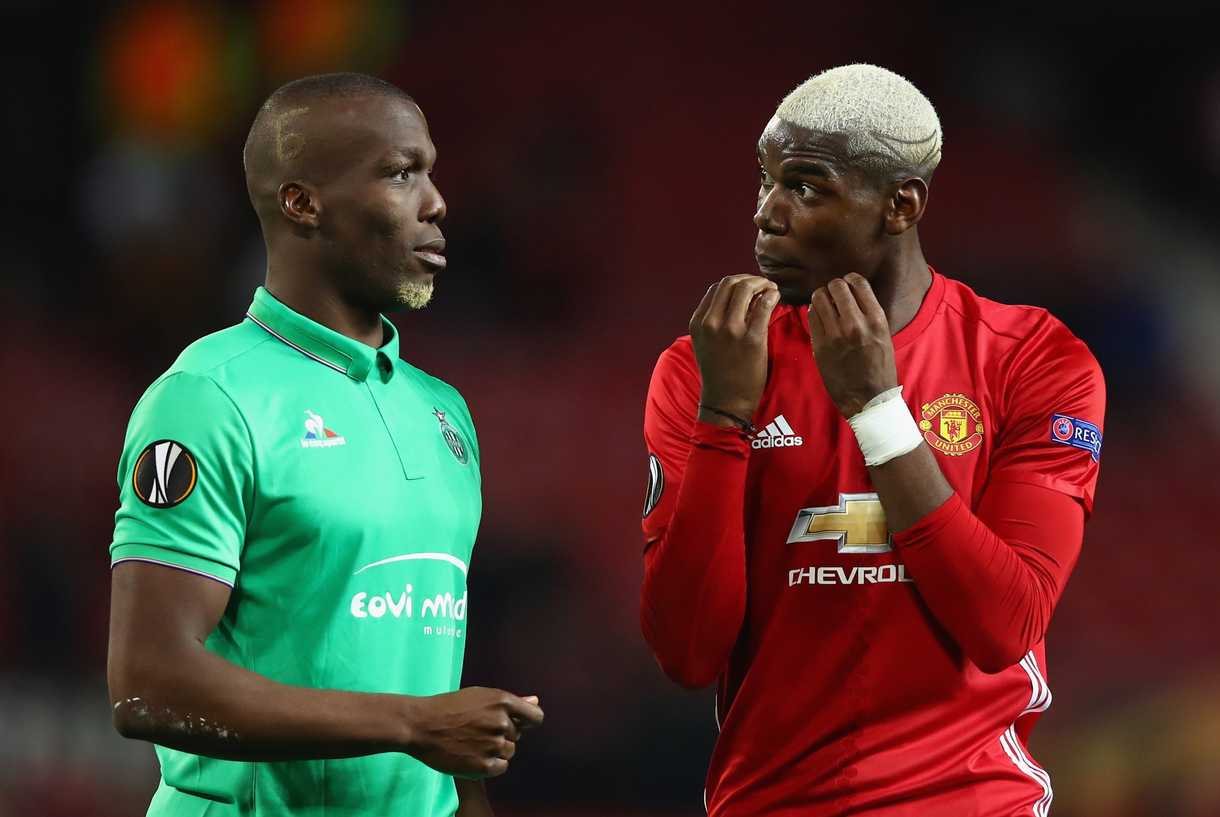 Paul Pogba, right, with brother Florentin.