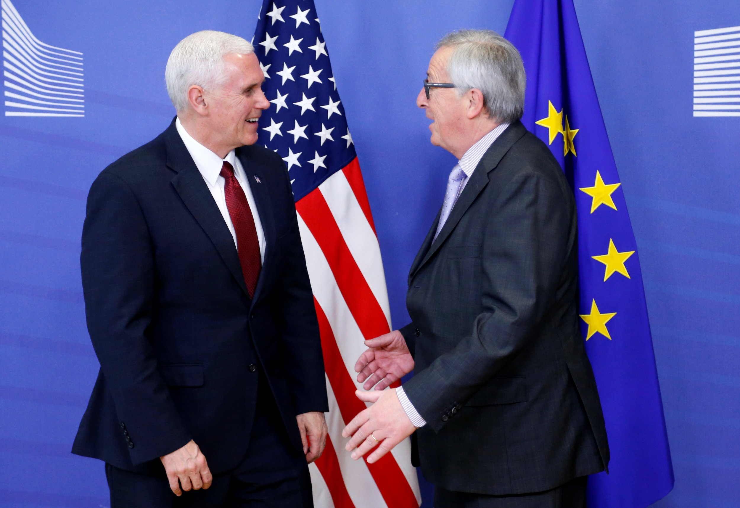 Pence and Juncker