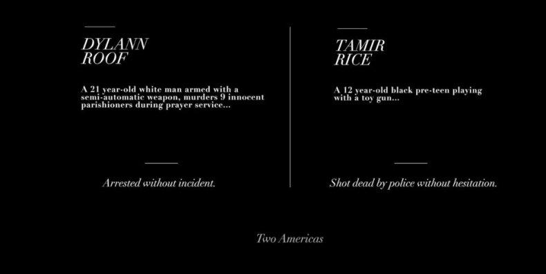 Dylann Roof vs Tamir Rice