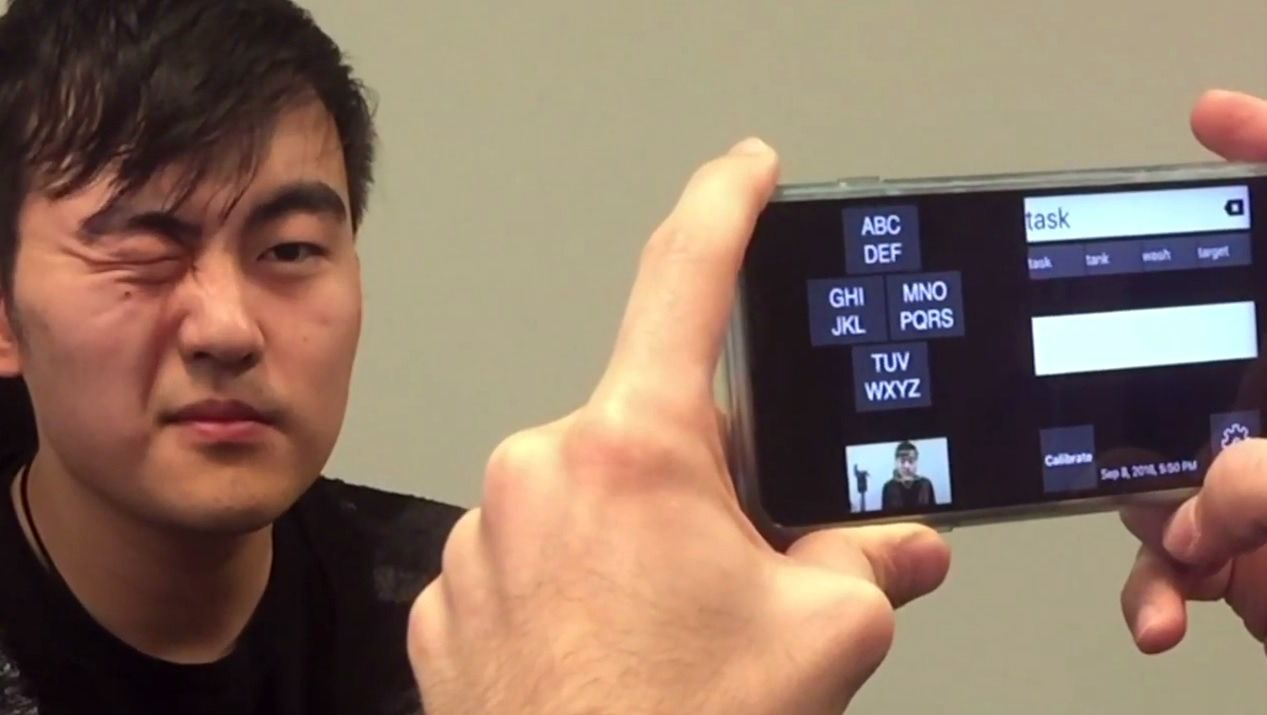 smartphone app gazespeak ALS Microsoft