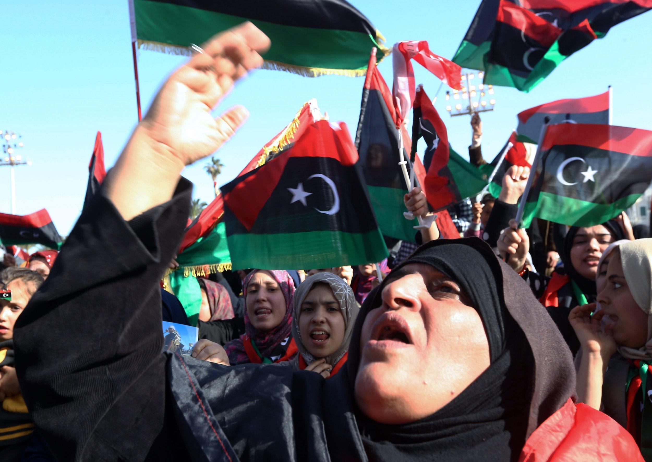Libya women demonstration