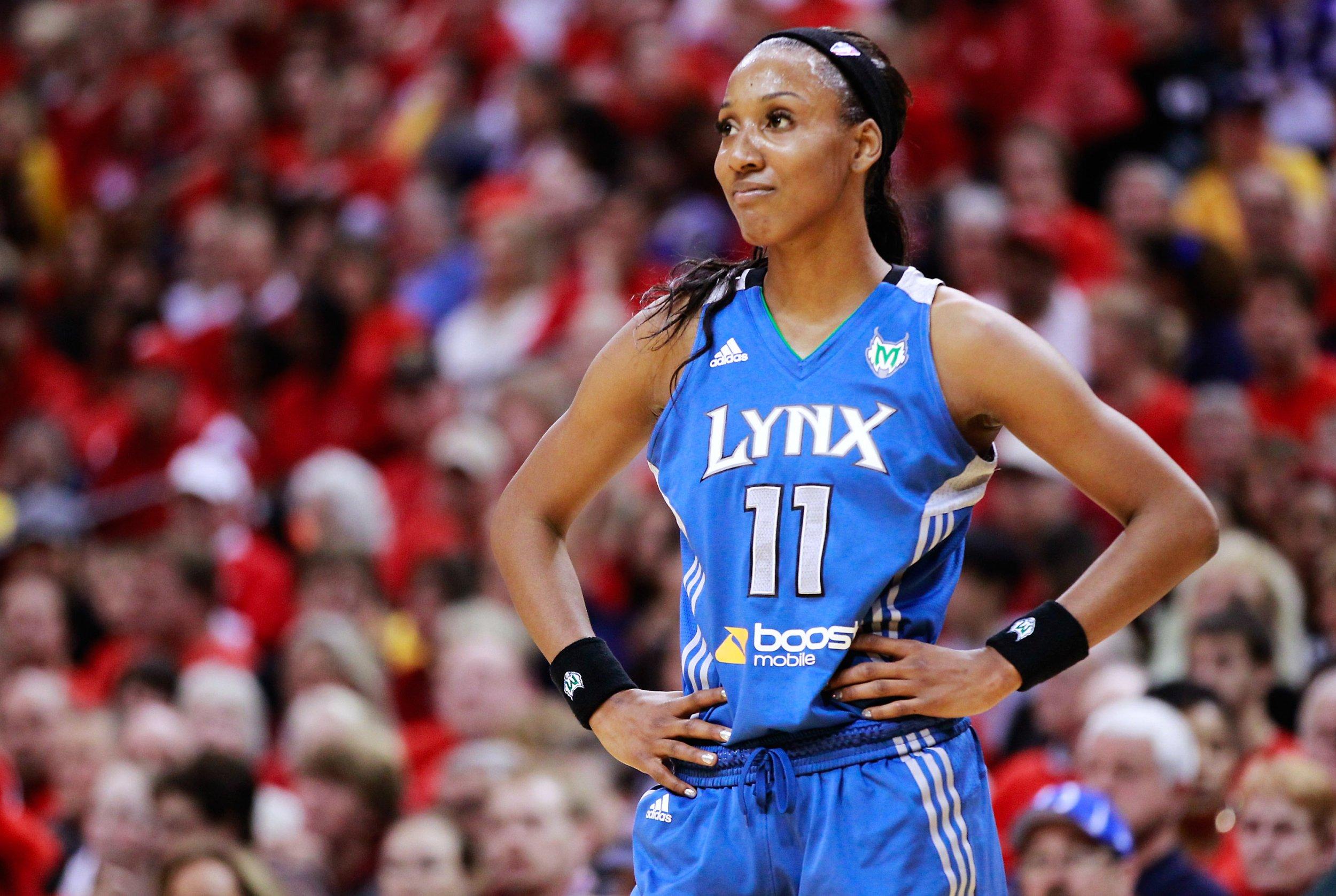 Former WNBA star Candice Wiggins.