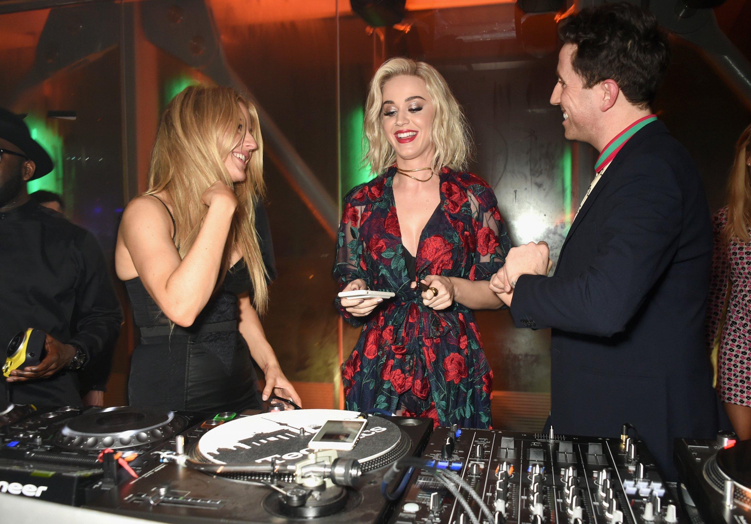 Ellie Goulding, Katy Perry & Nick Grimshaw