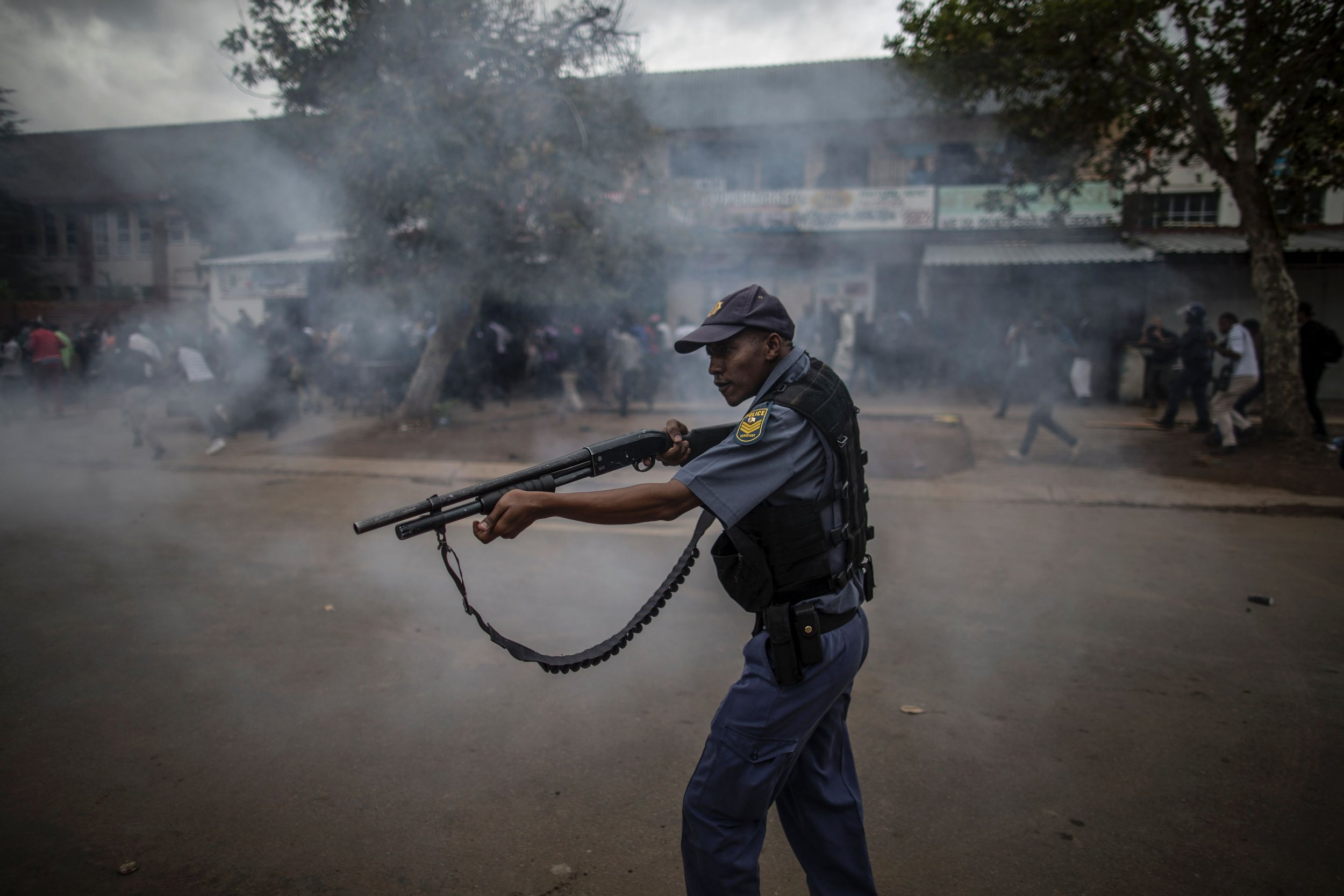 South African police officer