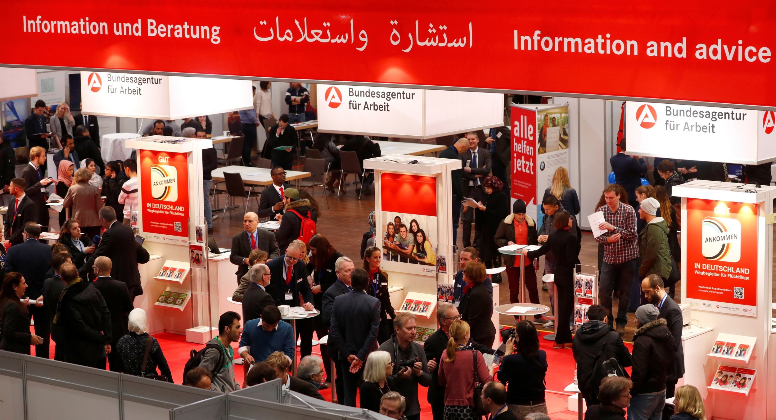 German job fair for migrants