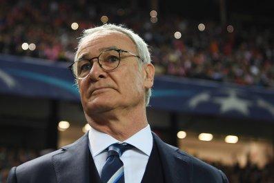 Leicester City midfielder Claudio Ranieri.