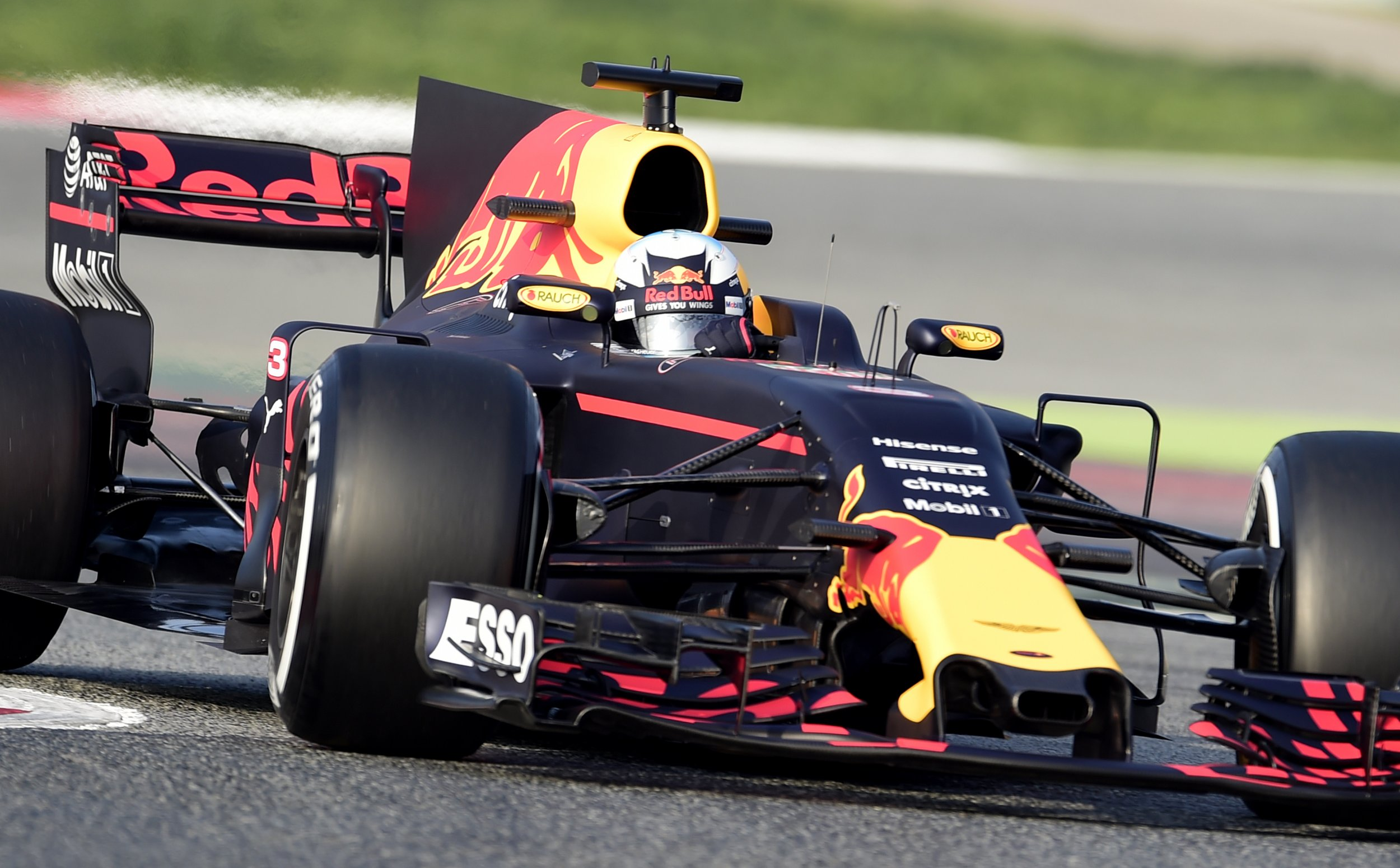 Red Bull Racing's Australian driver Daniel Ricciardo at the Circuit de Catalunya, Barcelona, February 27