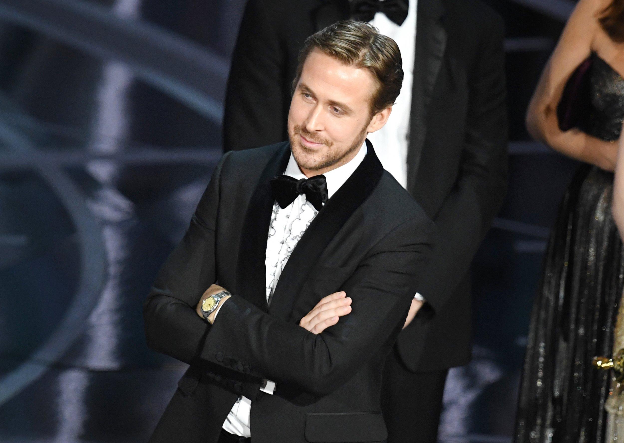 Ryan Gosling at Oscars as La La Land wins best picture