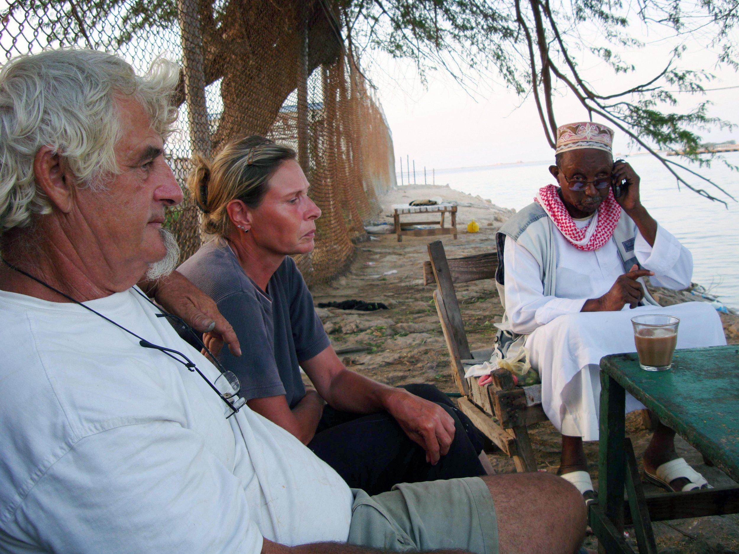 Jurgen Kantner and Sabine Merz in Somalia