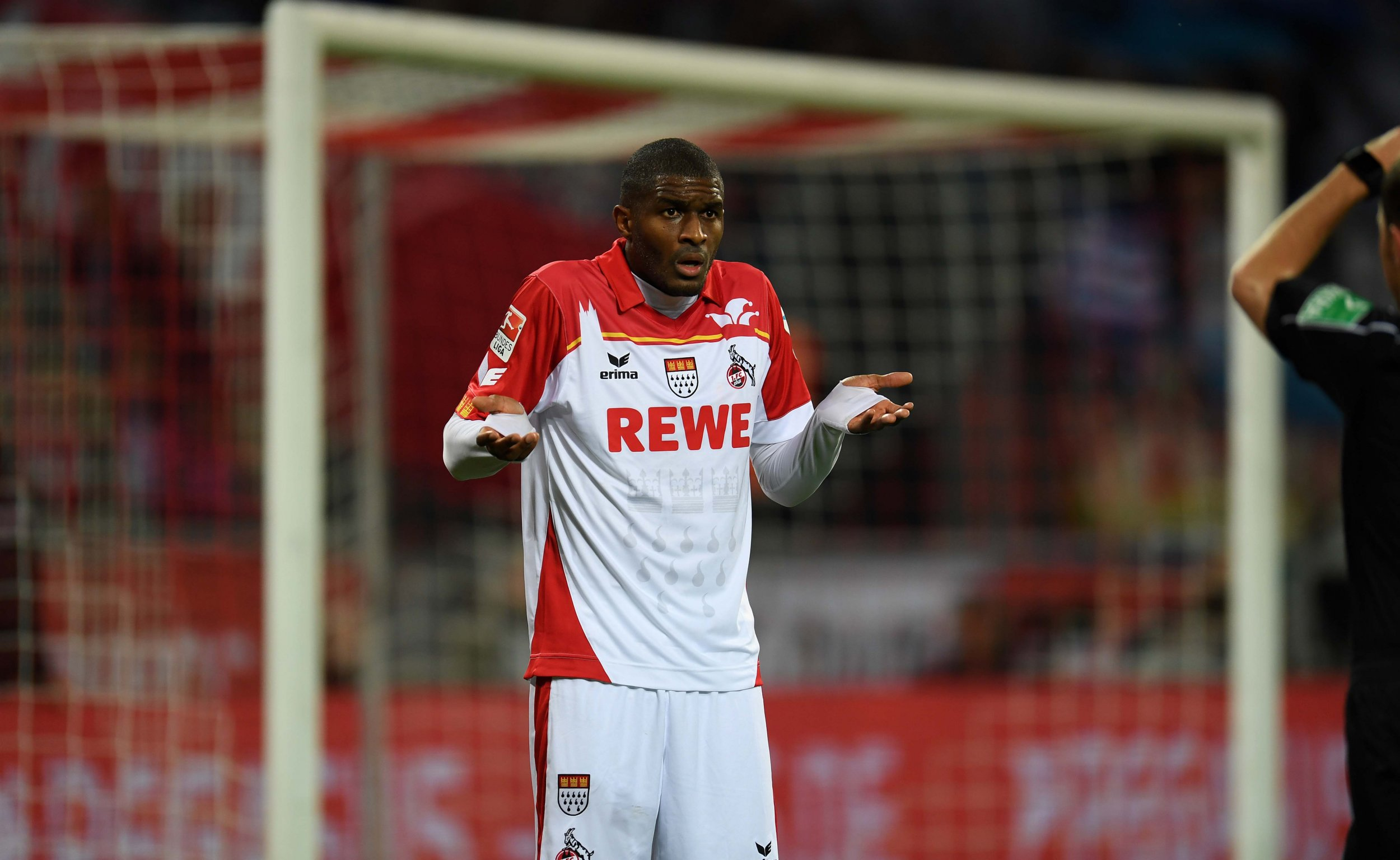 Cologne's French striker Anthony Modeste in Cologne, western Germany, October 30 2016.