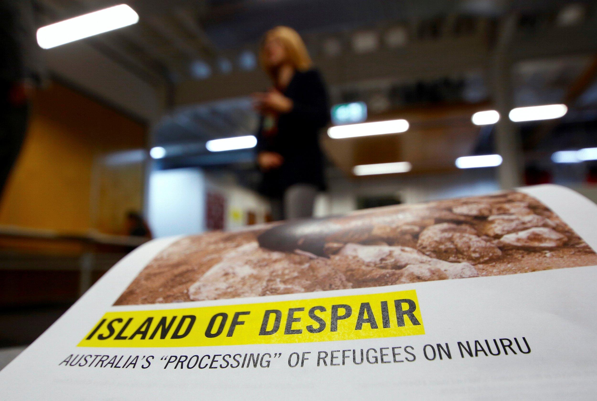 Amnesty International leaflet Nauru