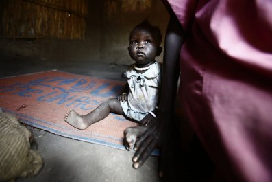 South Sudan refugee child