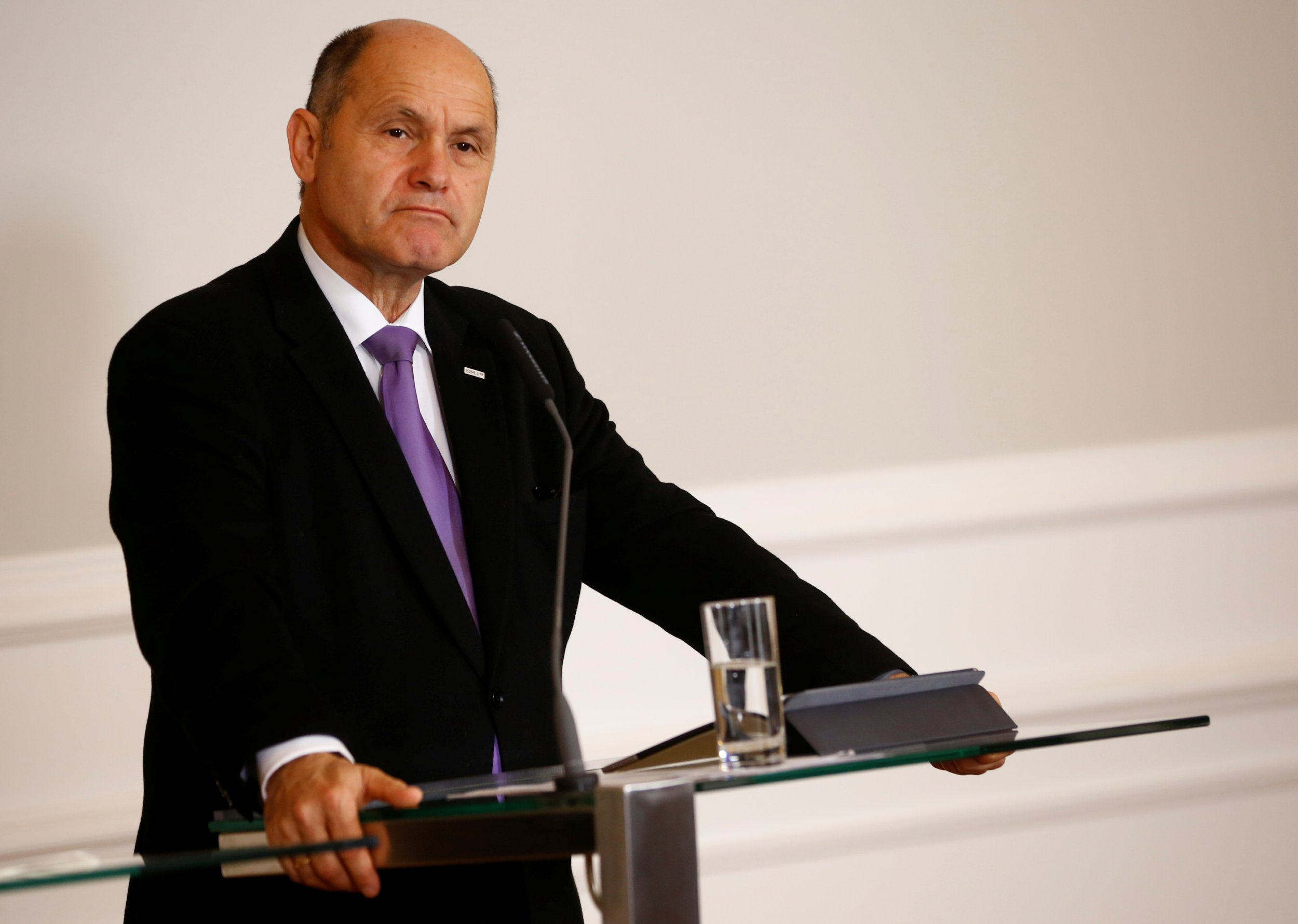 Austria's Interior Minister Wolfgang Sobotka