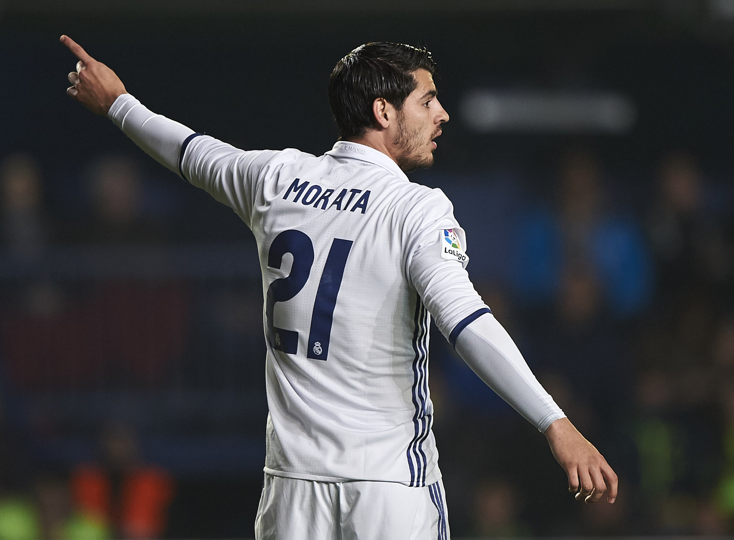 Real Madrid striker Alvaro Morata.