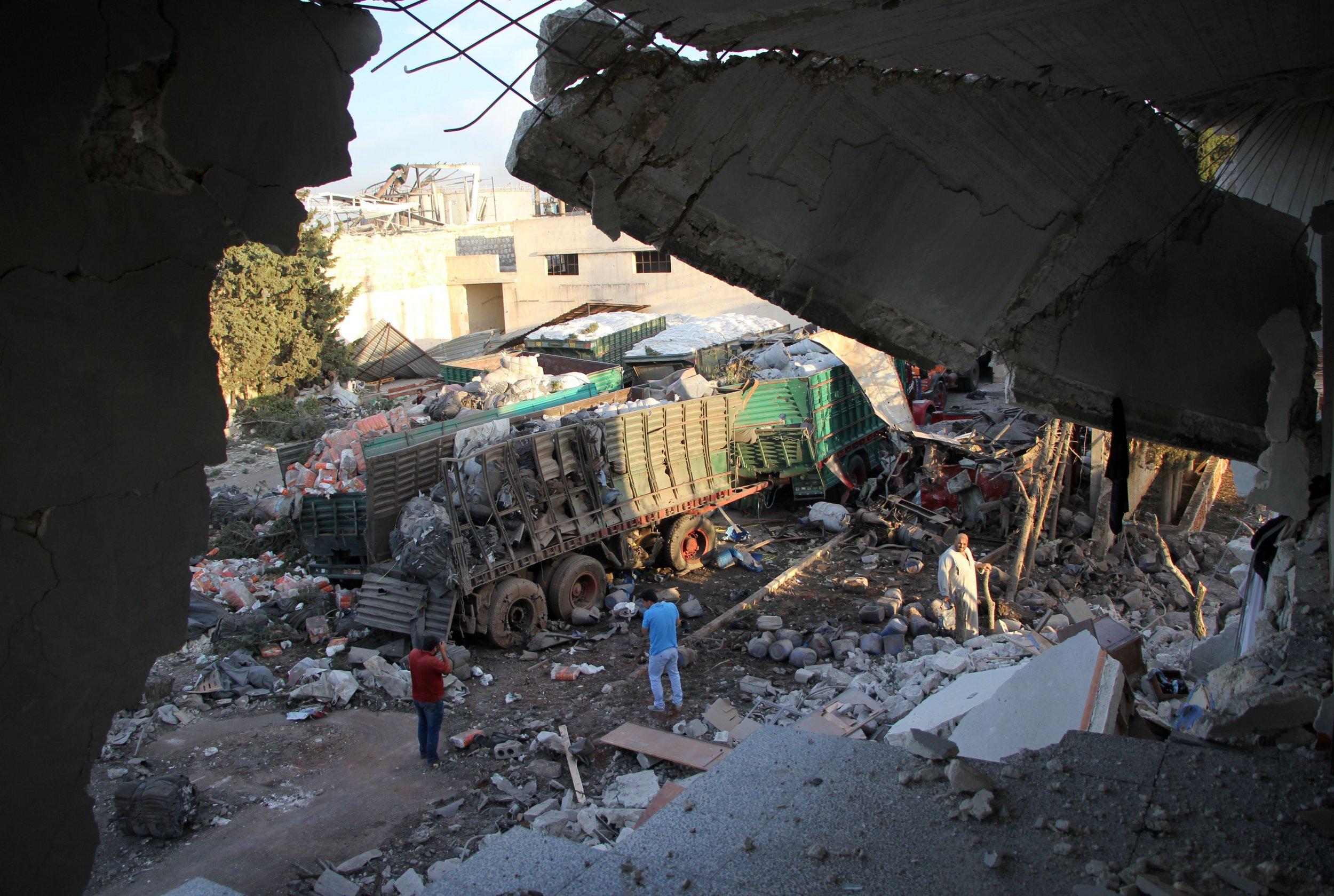 Aftermath of aid convoy strike