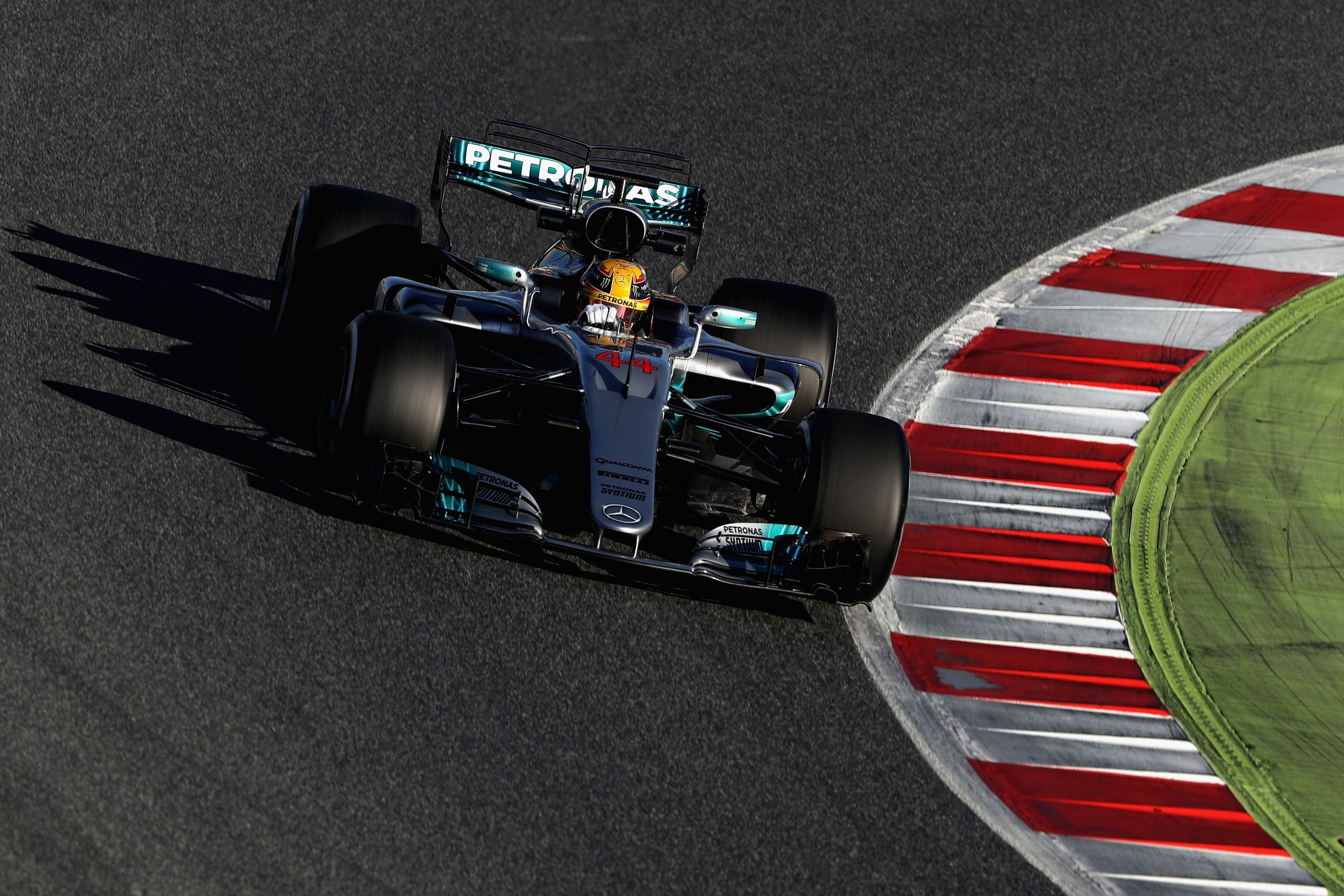 Lewis Hamilton of Mercedes at Circuit de Catalunya, Montmelo, Spain, March 1.