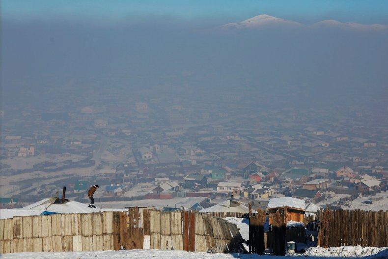 The gers in Ulaanbaatur