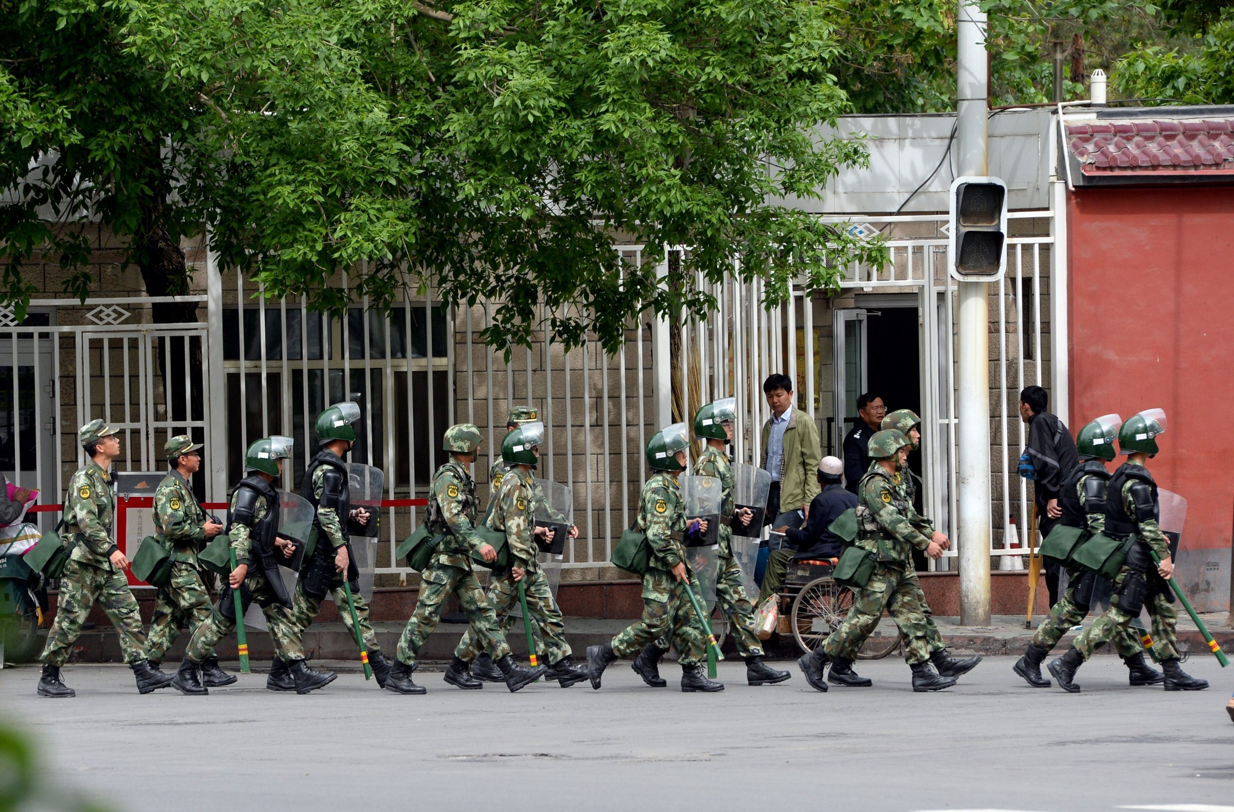Police in Uighur area of China