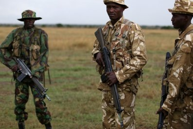 Kenya anti-poaching rangers