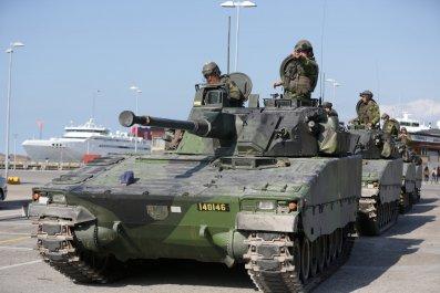Swedish troops