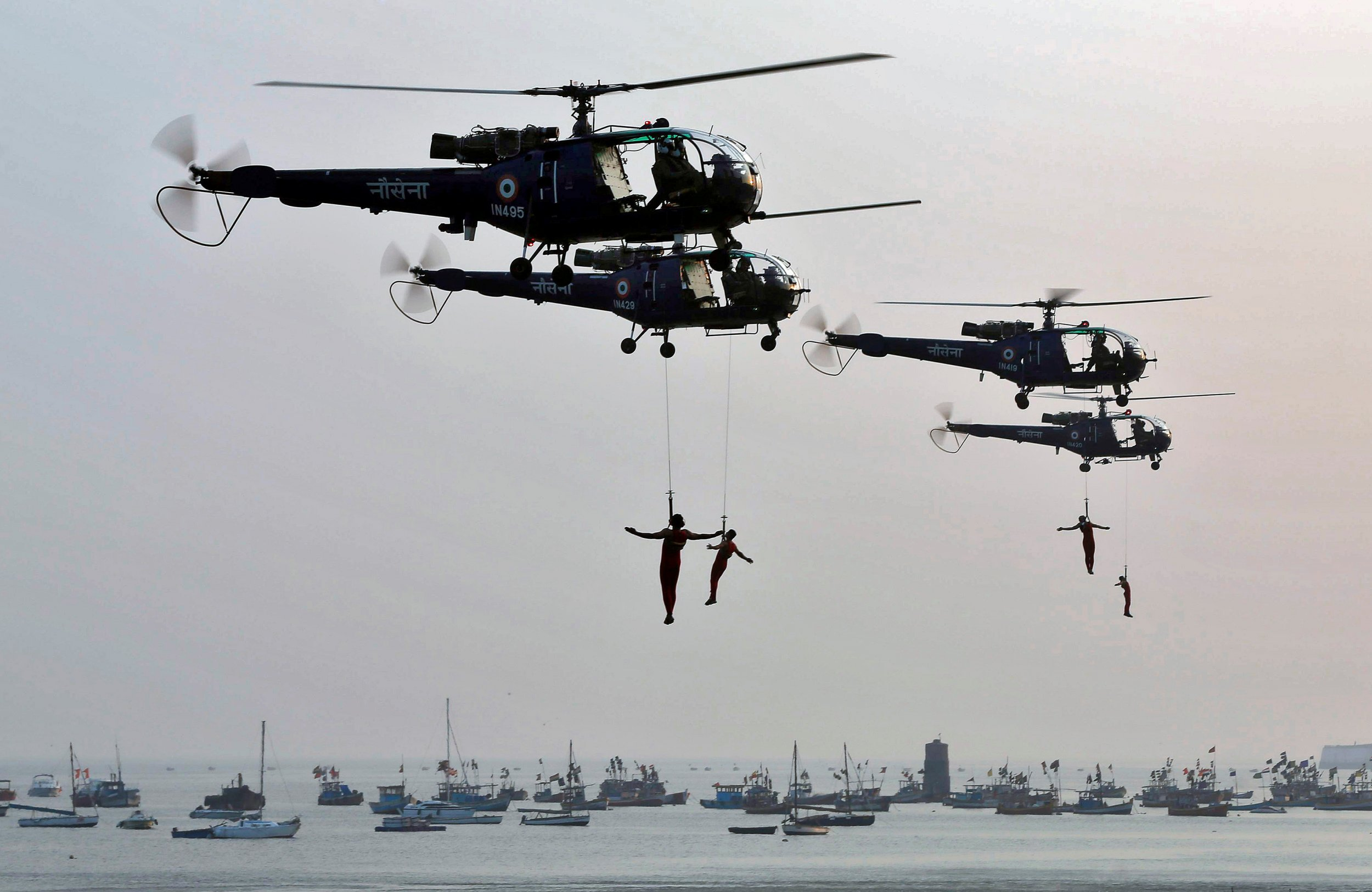 Indian navy exercises