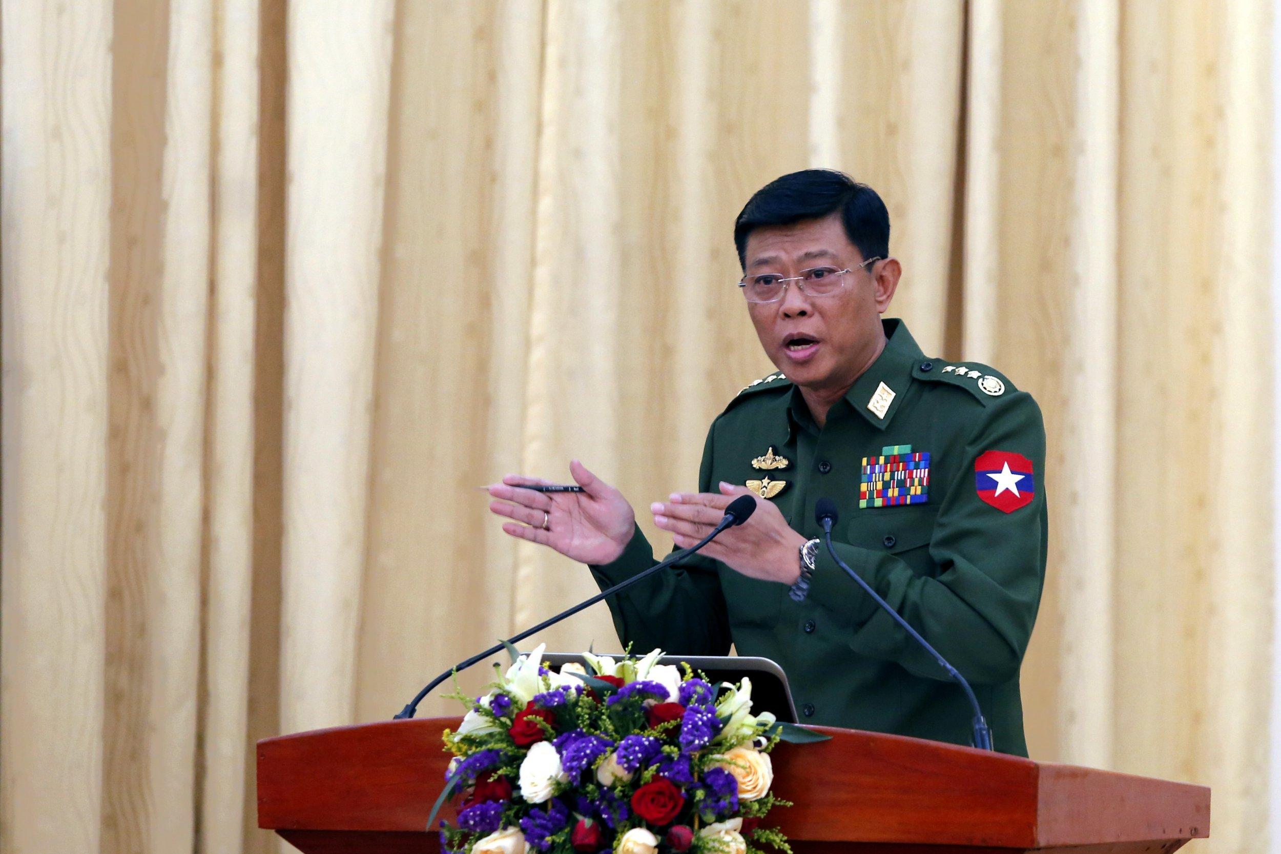 Myanmar's Chief of General Staff (Army,Navy and Air) Lieutenant General Mya Tun Oo