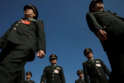 Military delegates at China people conference