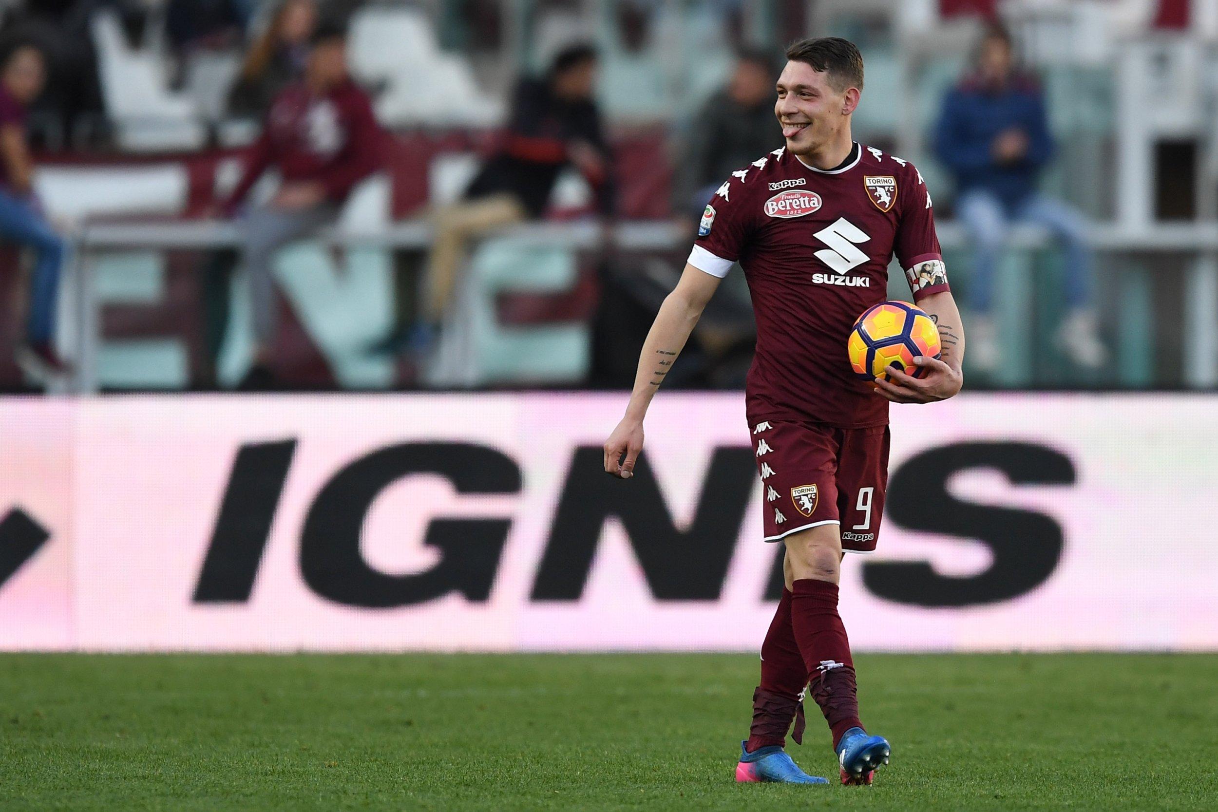 Torino striker Andrea Belotti.