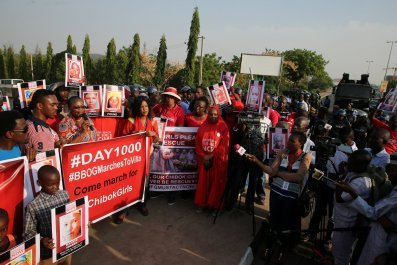 Chibok girls rally