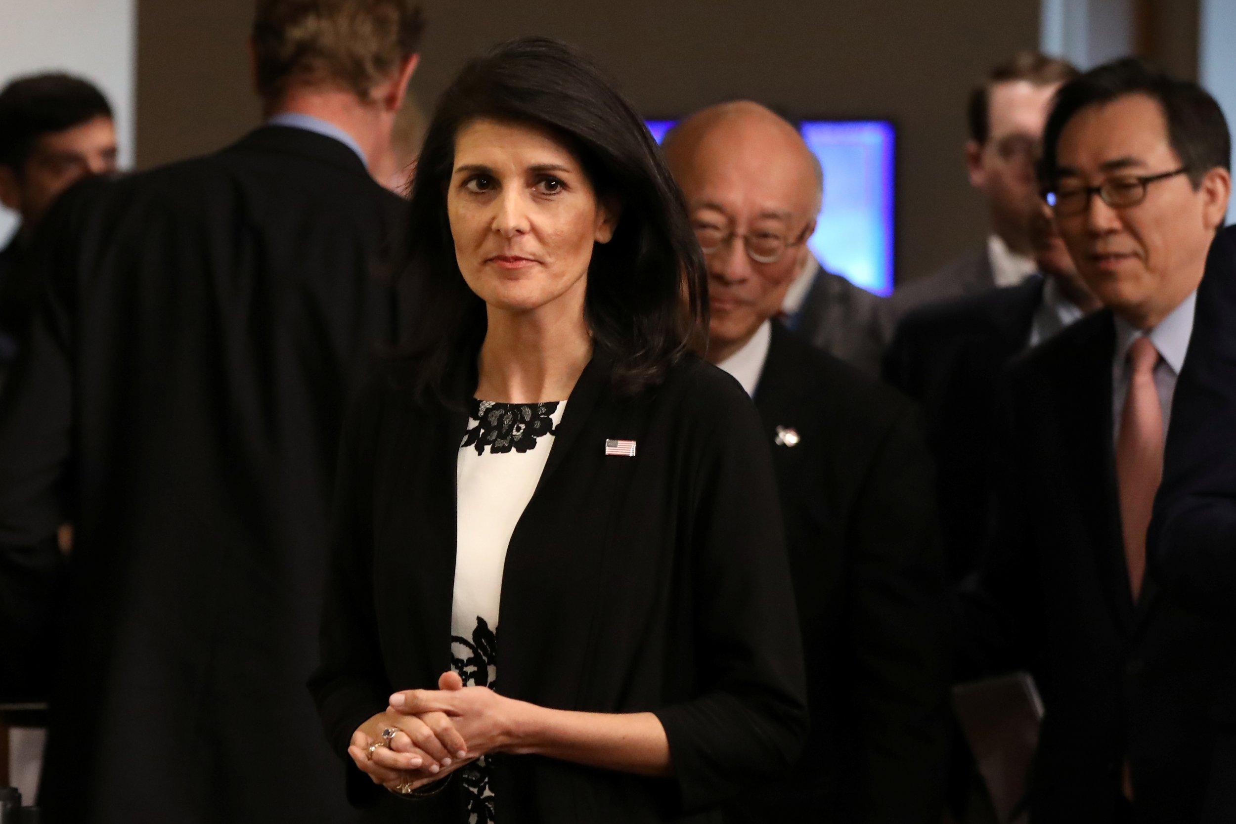 U.S. ambassador to the United Nations Nikki Haley